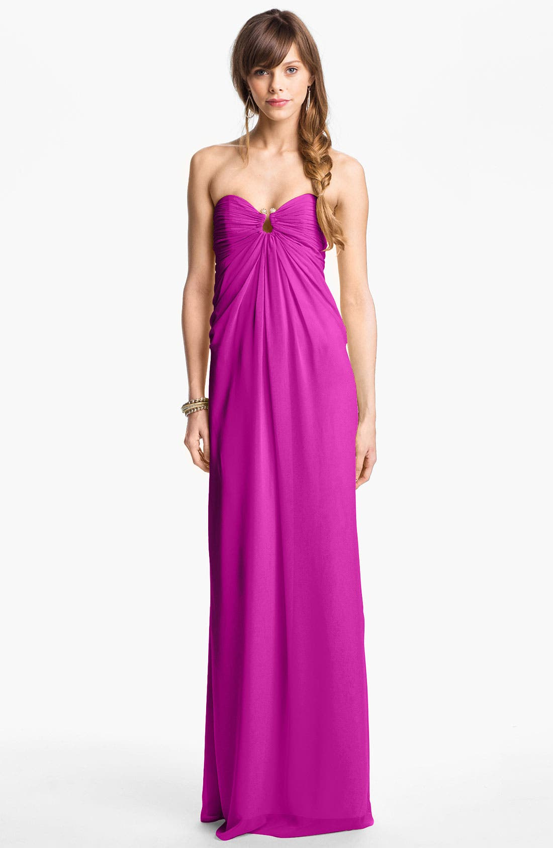 Alternate Image 1 Selected - Laundry by Shelli Segal Strapless Chiffon Gown