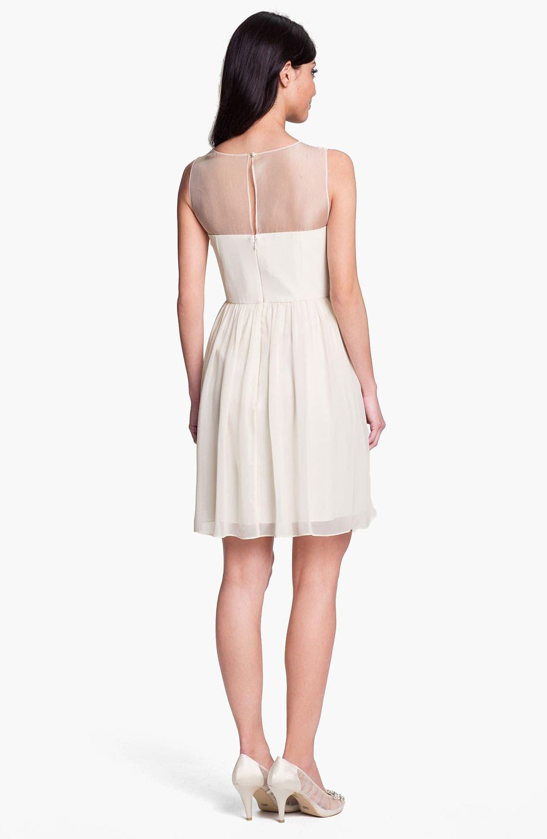 Alternate Image 2  - Donna Morgan Embellished Ruffle Chiffon Dress