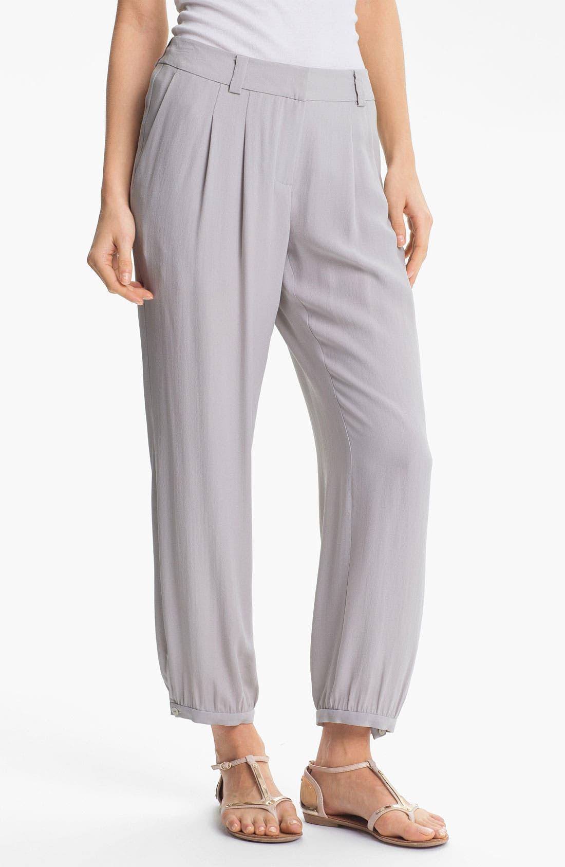 Alternate Image 1 Selected - Eileen Fisher Silk Georgette Crepe Pants