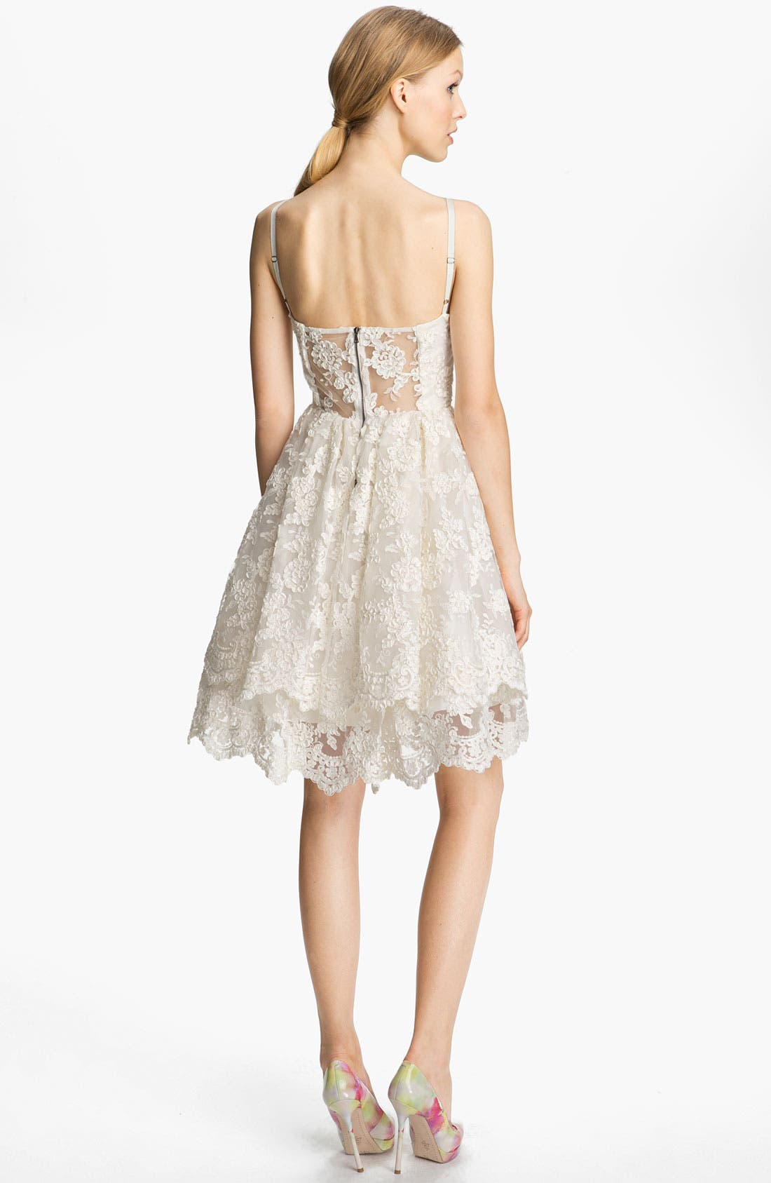 Alternate Image 2  - Alice + Olivia Lace Tank Dress