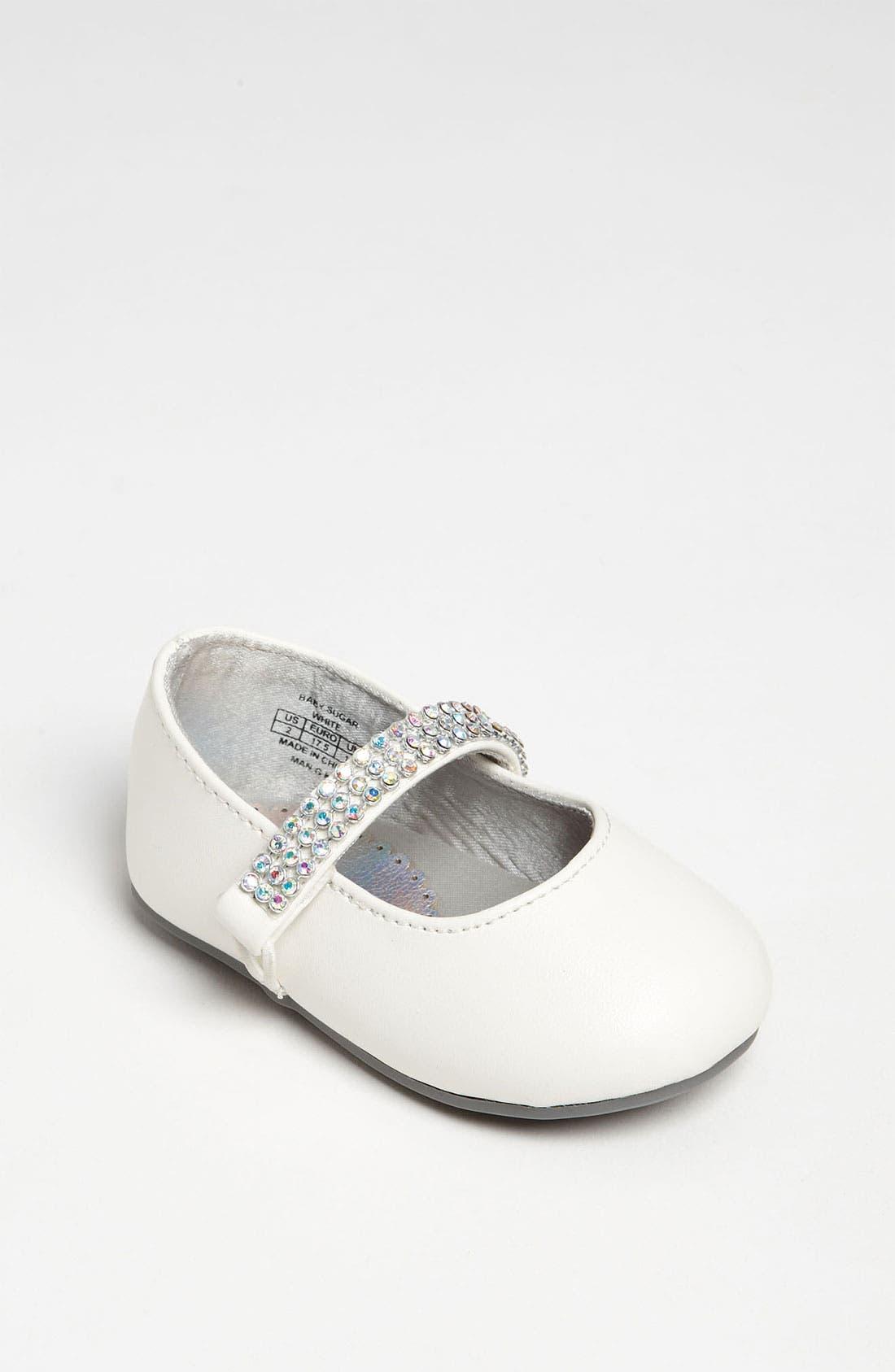 Main Image - Stuart Weitzman 'Baby Sugar' Crib Shoe (Baby)