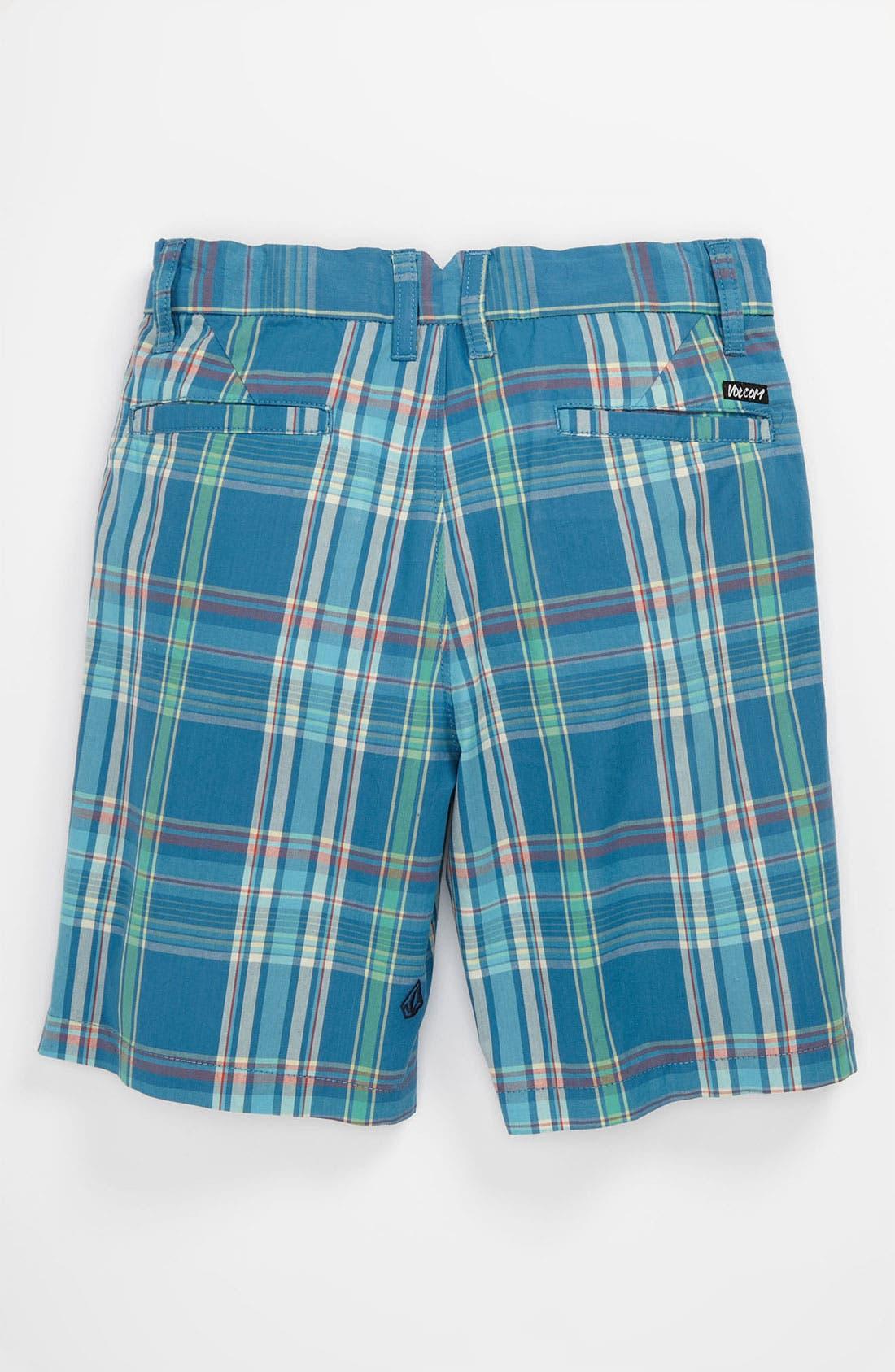 Alternate Image 2  - Volcom 'Rushy' Plaid Shorts (Little Boys)