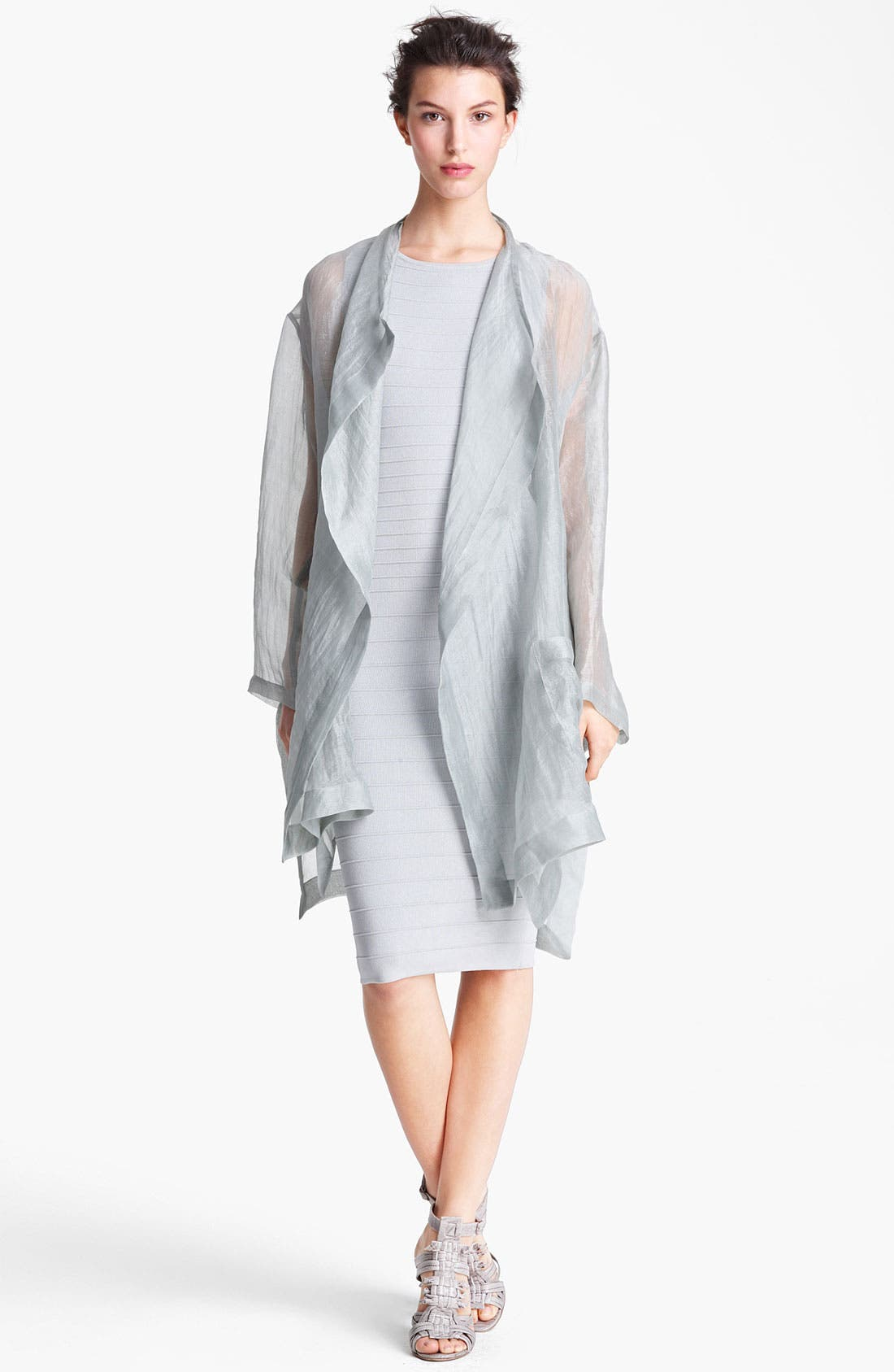Alternate Image 1 Selected - Donna Karan Collection Tissue Weight Organza Coat