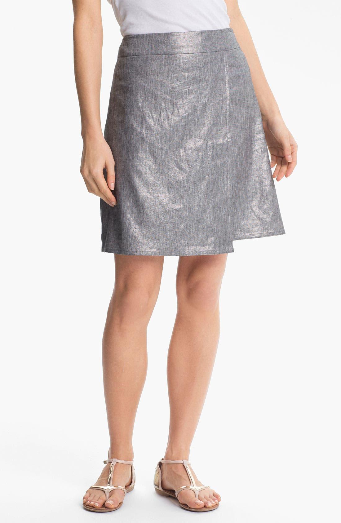 Main Image - Eileen Fisher Stretch Linen Blend Wrap Skirt