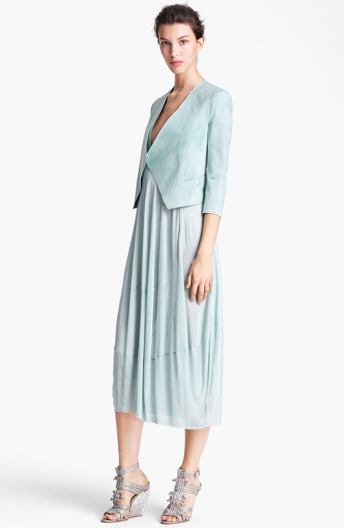 Alternate Image 1 Selected - Donna Karan Collection Mineral Stretch Paper Jacket