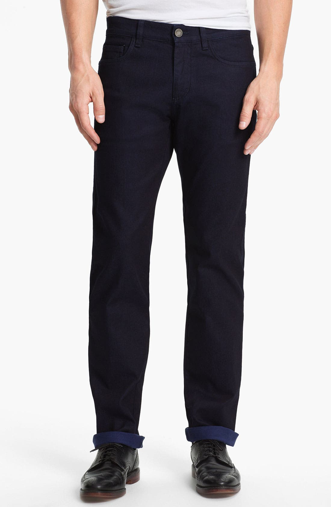 Alternate Image 1 Selected - Z Zegna Straight Leg Jeans (Navy)