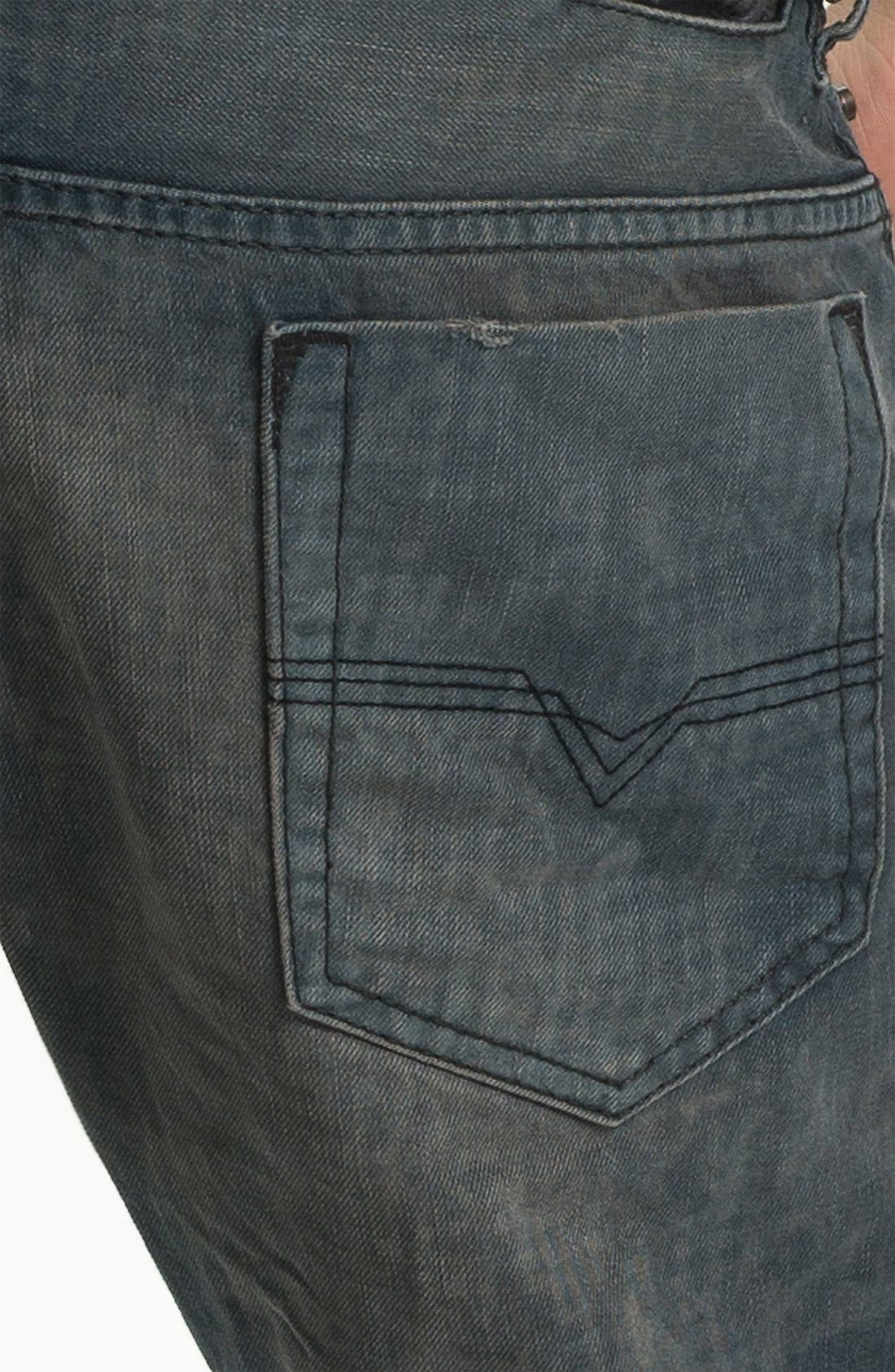 Alternate Image 4  - DIESEL® 'Safado' Straight Leg Jeans (Electric Blue)