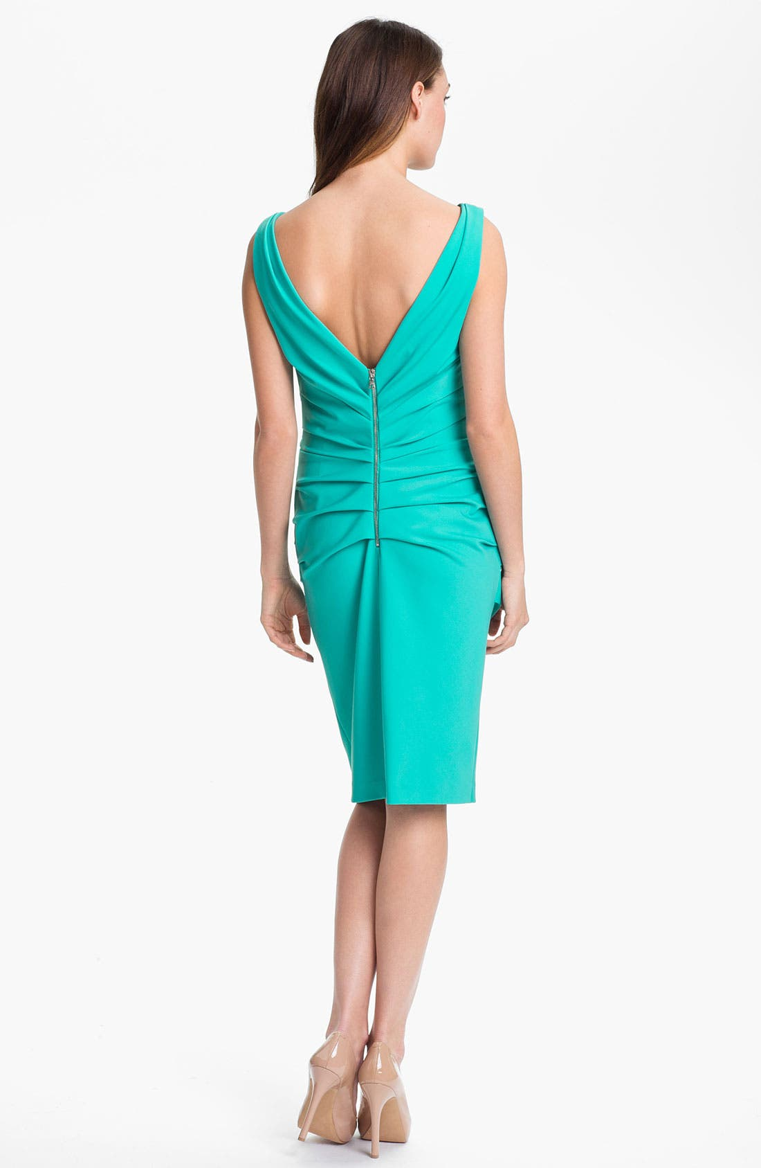 Alternate Image 2  - Suzi Chin for Maggy Boutique Ruched Jersey Sheath Dress