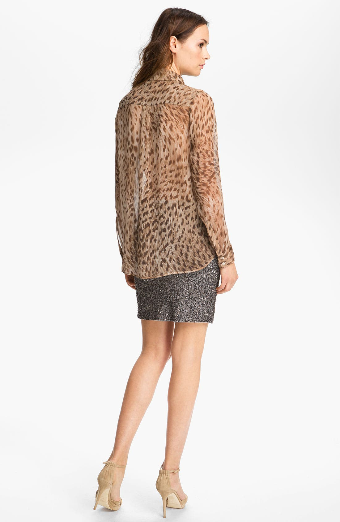Alternate Image 4  - Haute Hippie Leopard Print Silk Shirt