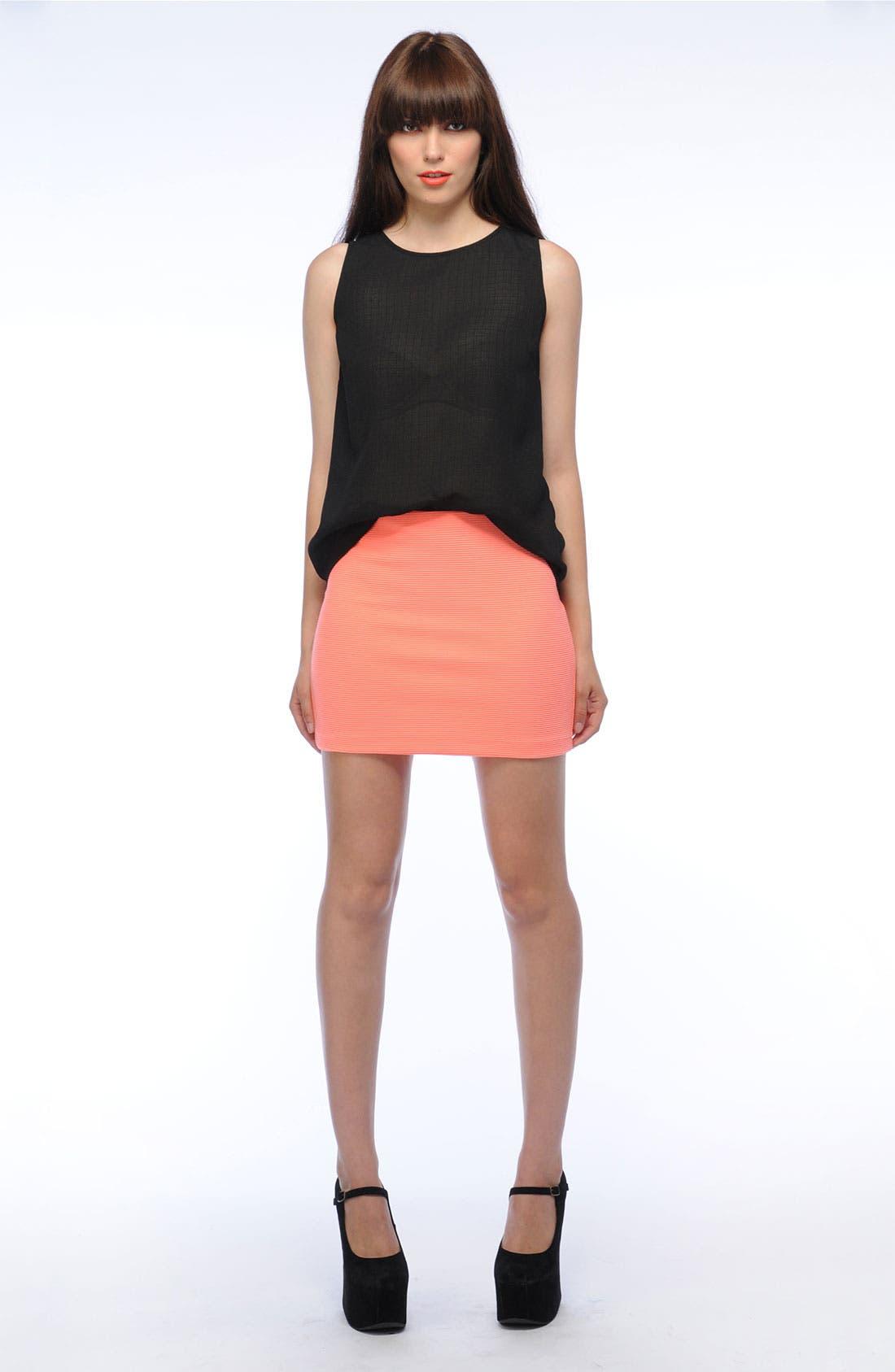 Alternate Image 5  - BB Dakota Ribbed Skirt