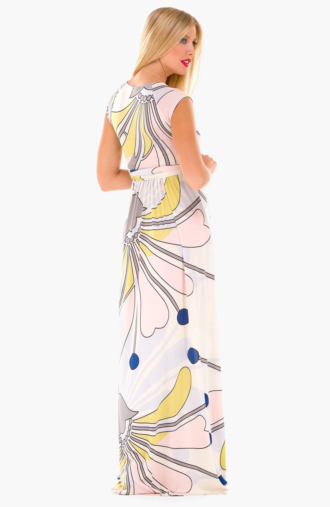 Alternate Image 3  - Olian 'Lucy' Maternity Draped Stretch Knit Dress