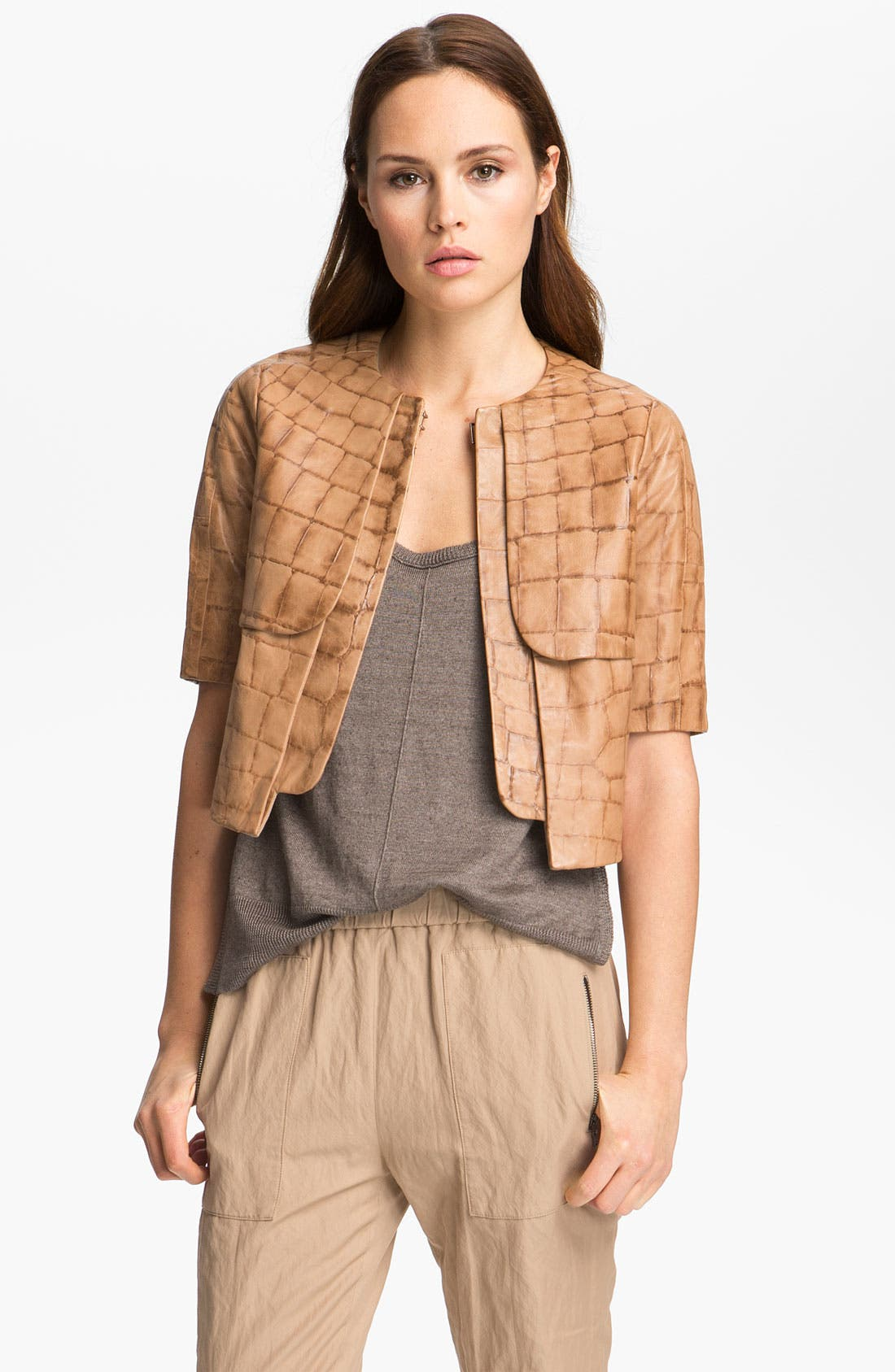 Alternate Image 3  - J Brand Ready-to-Wear 'Anna' Embossed Leather Jacket