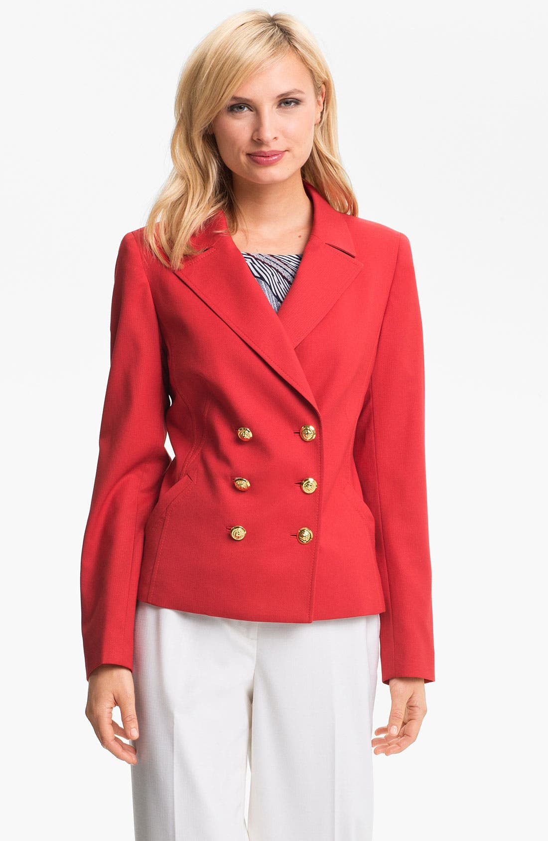 Alternate Image 2  - Anne Klein Peacoat (Petite)