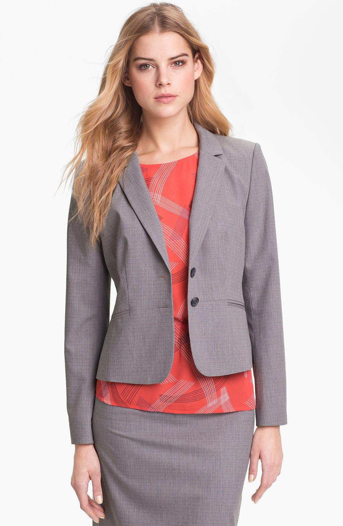 Alternate Image 1 Selected - Halogen® Tonal Texture Suiting Jacket