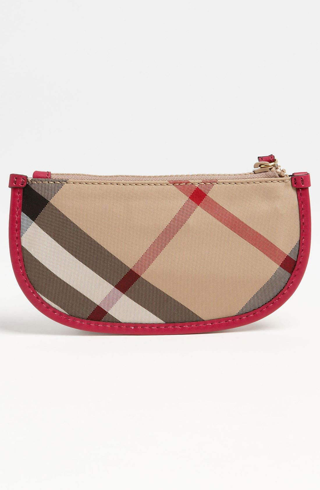 Alternate Image 4  - Burberry 'Celia' House Check Zip Pouch (Girls)