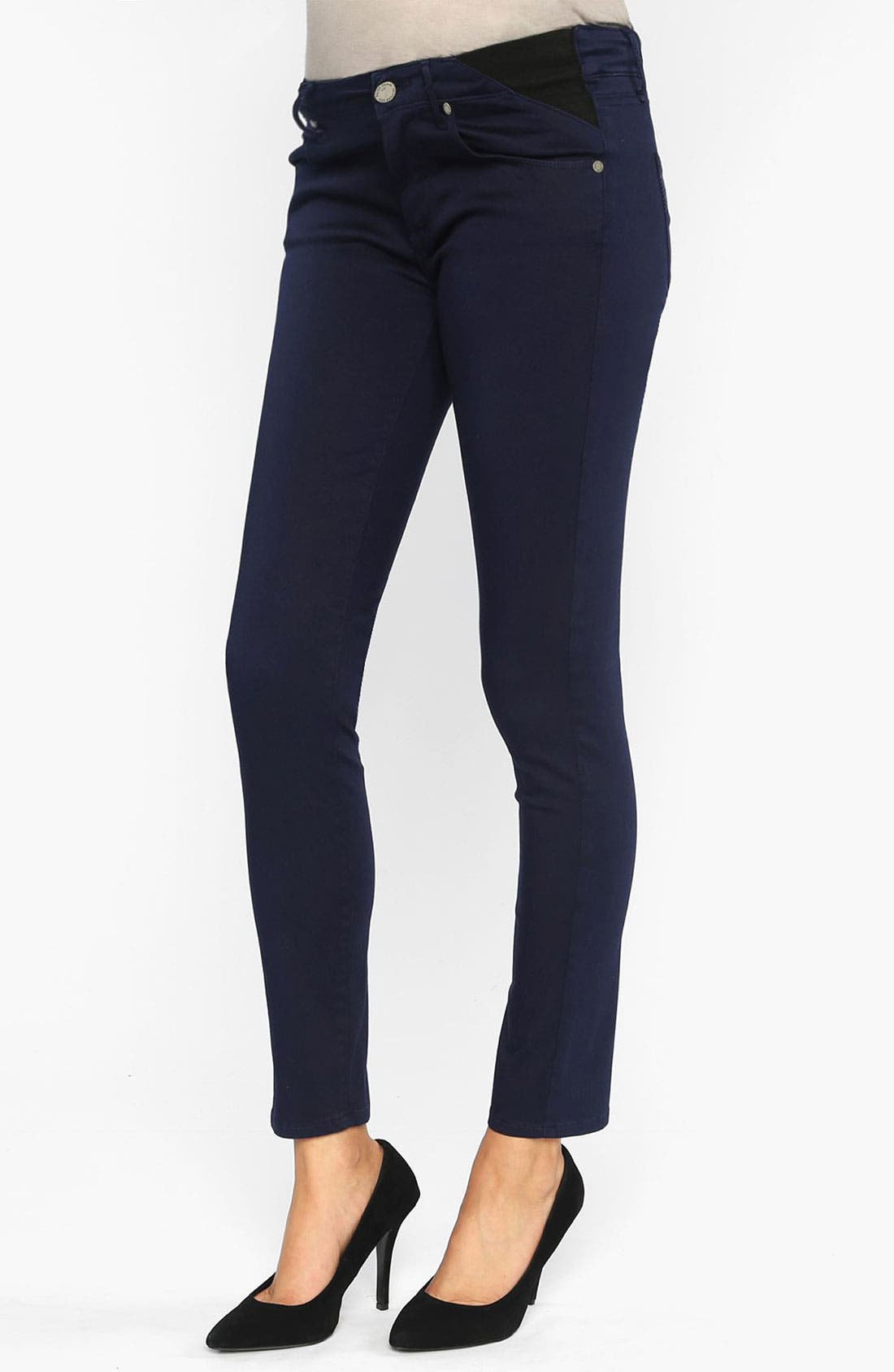 Alternate Image 1 Selected - Paige Denim 'Verdugo' Maternity Ankle Ultra Skinny Jeans (Pacific Dusk)