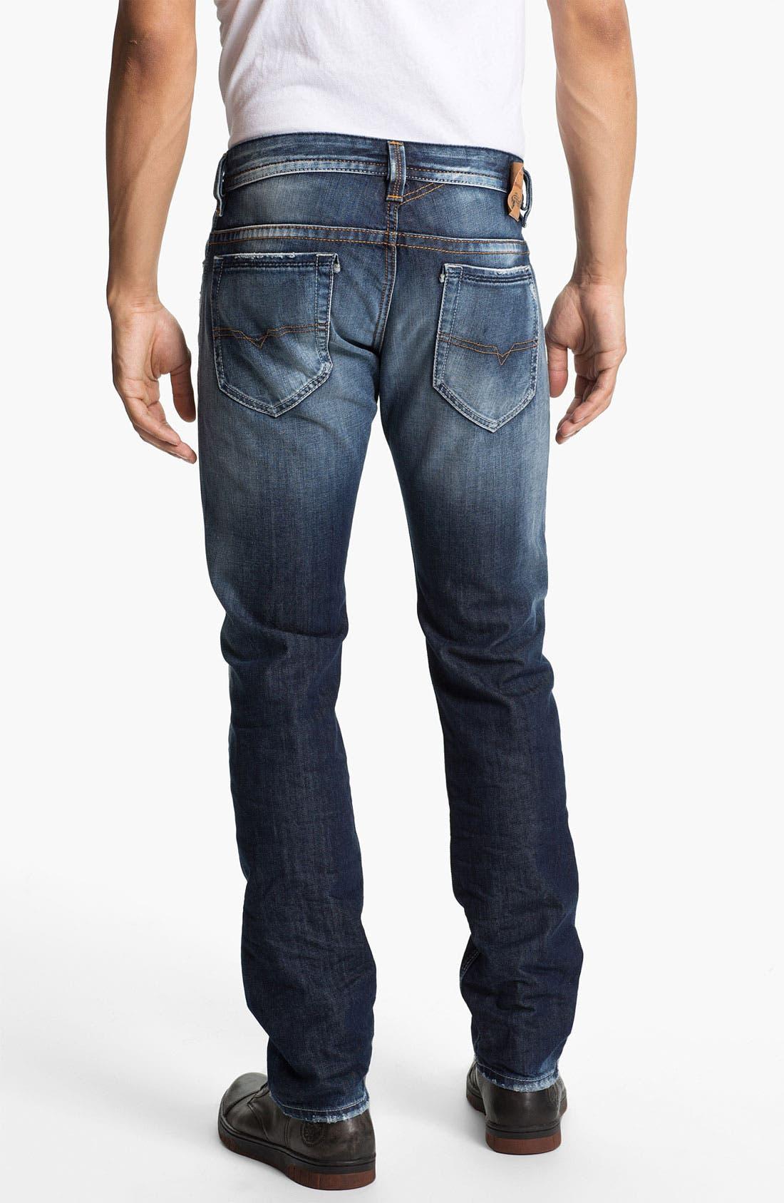 Alternate Image 1 Selected - DIESEL® 'Thavar' Skinny Fit Jeans (0810L)