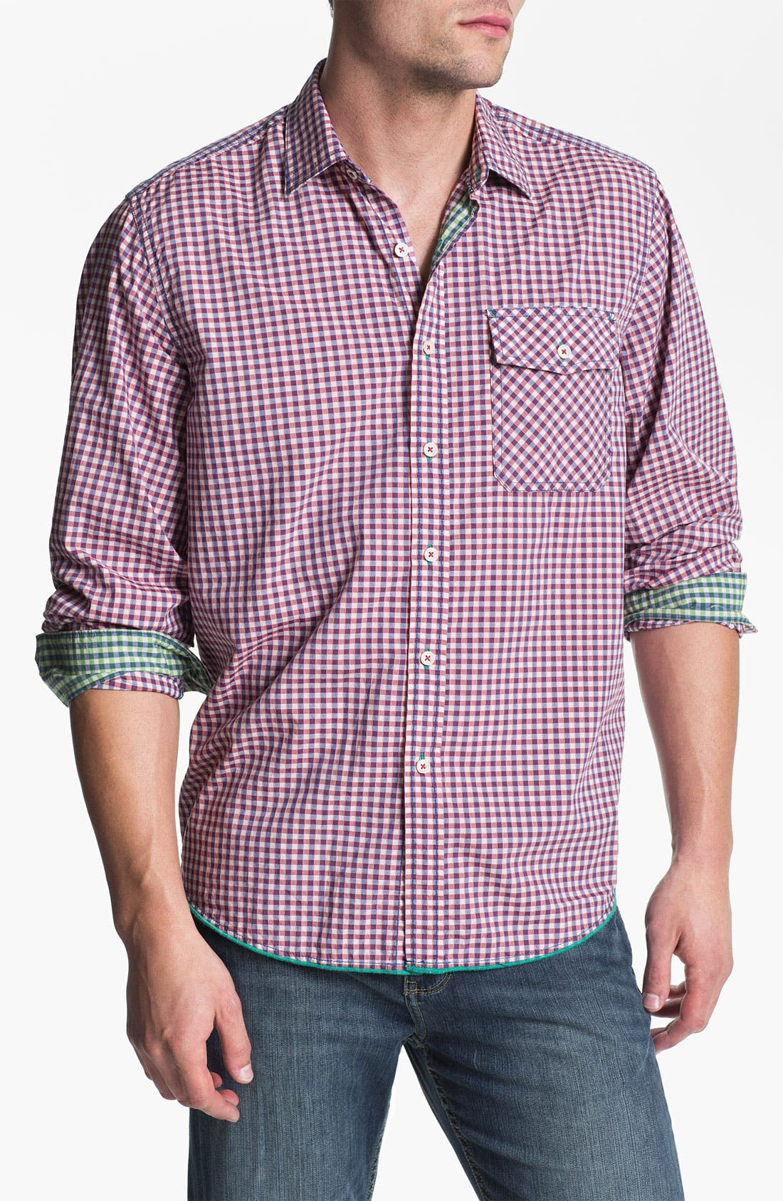 Alternate Image 1 Selected - Tommy Bahama Denim 'Cape Check' Sport Shirt