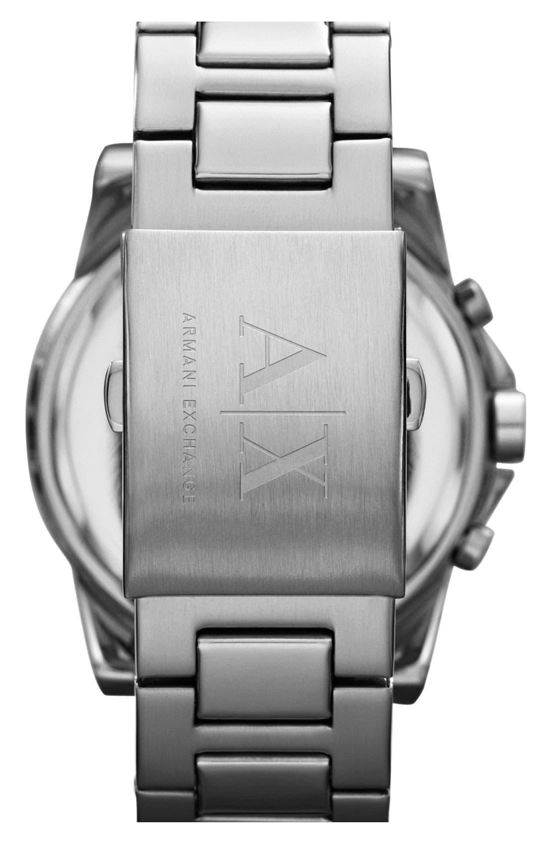 Alternate Image 2  - AX Armani Exchange Chronograph Bracelet Watch, 45mm