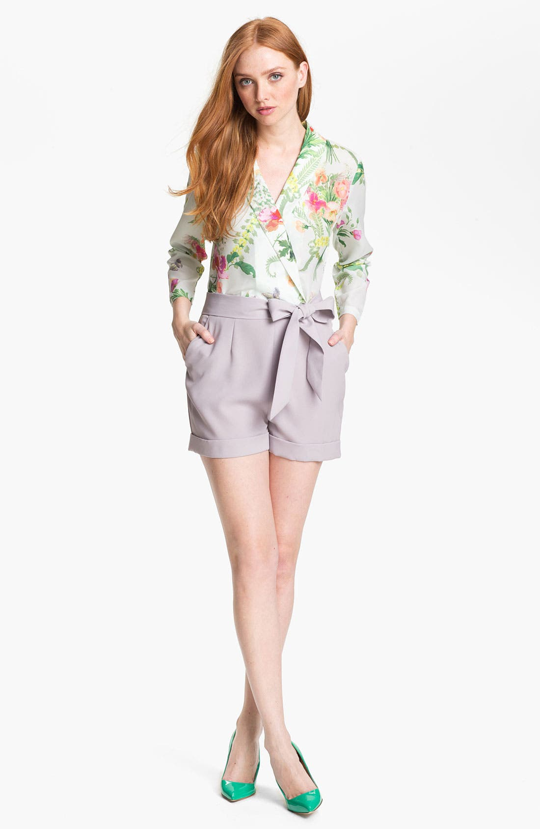 Alternate Image 1 Selected - Ted Baker London 'Wallpaper' Faux Wrap Romper
