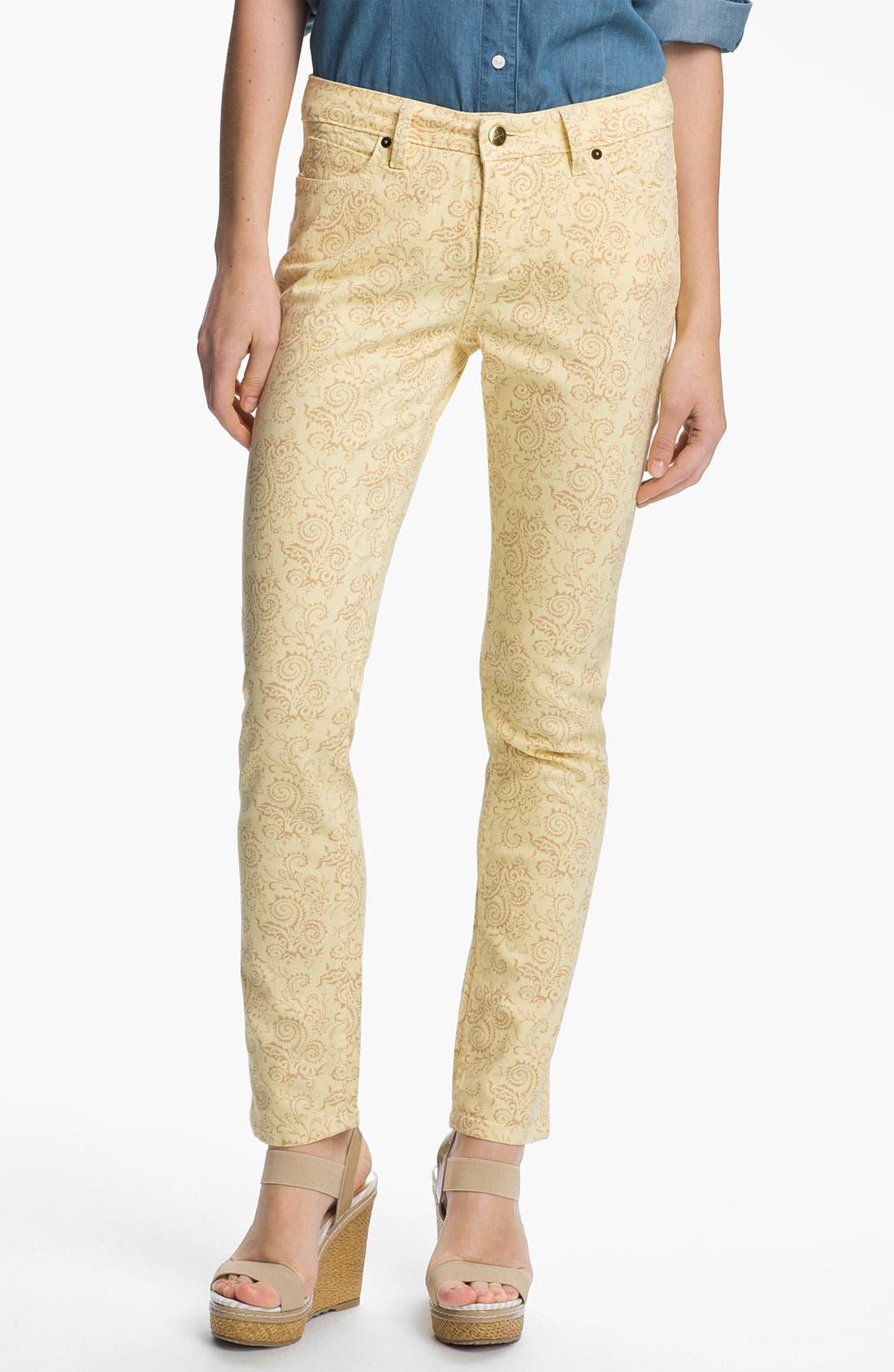 Alternate Image 1 Selected - Christopher Blue 'Isabel' Print Skinny Ankle Jeans