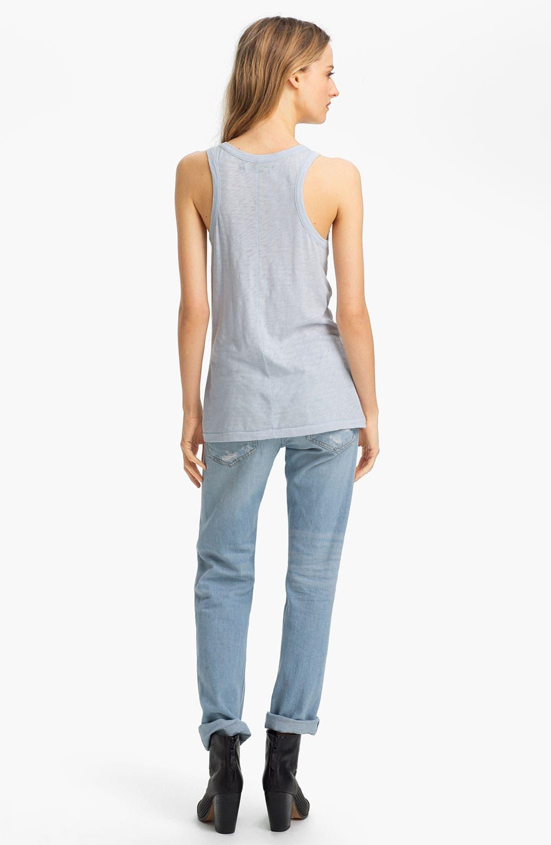 Alternate Image 4  - rag & bone/JEAN 'The Boyfriend' Selvedge Denim Jeans