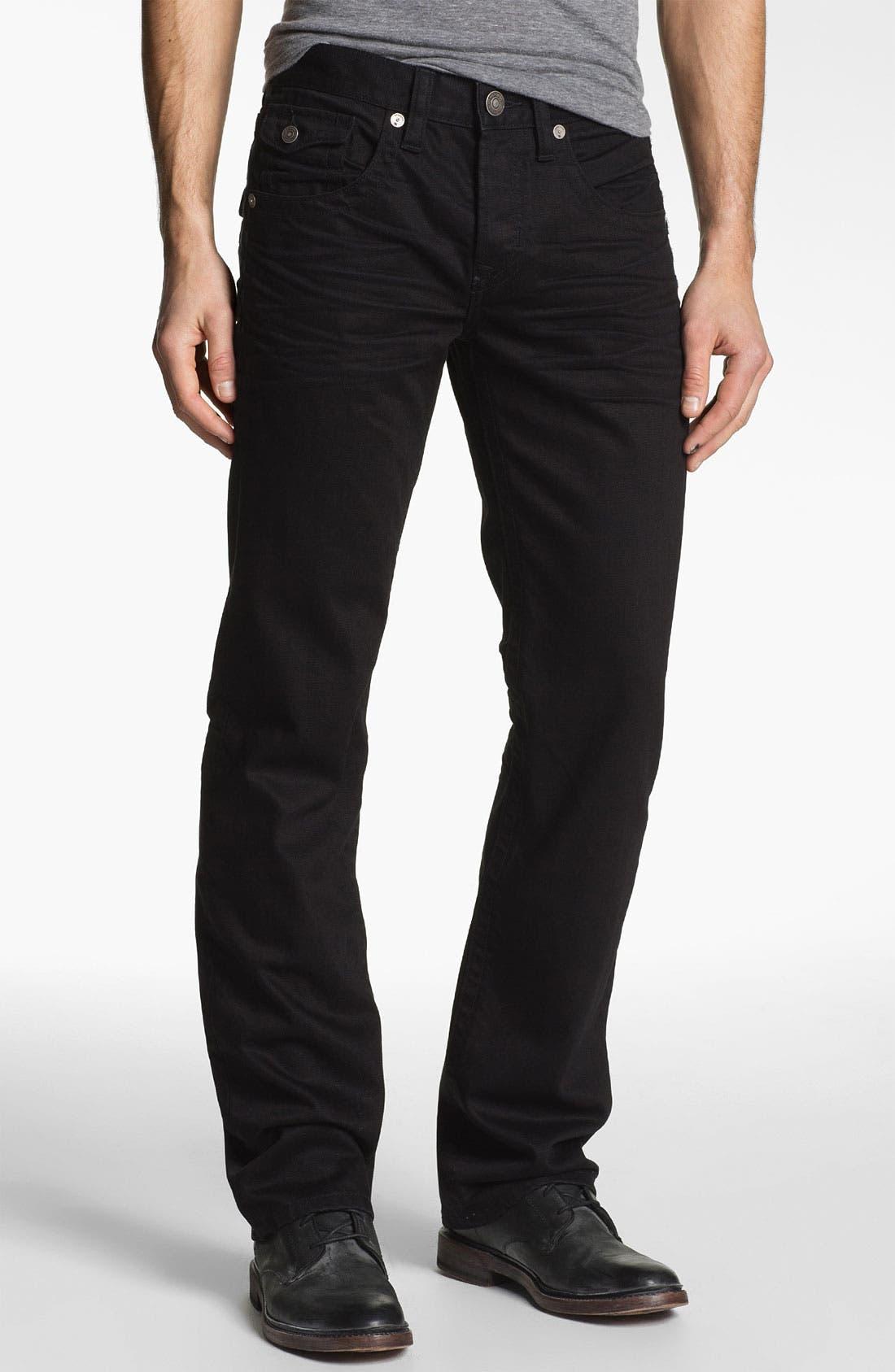 Alternate Image 2  - MEK Denim 'Luther' Straight Leg Jeans (Black Bart)