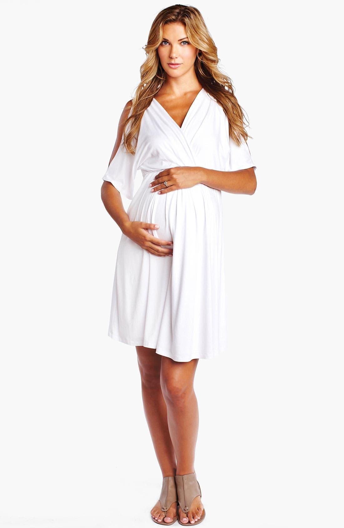 Alternate Image 1 Selected - Maternal America Split Sleeve Maternity Dress