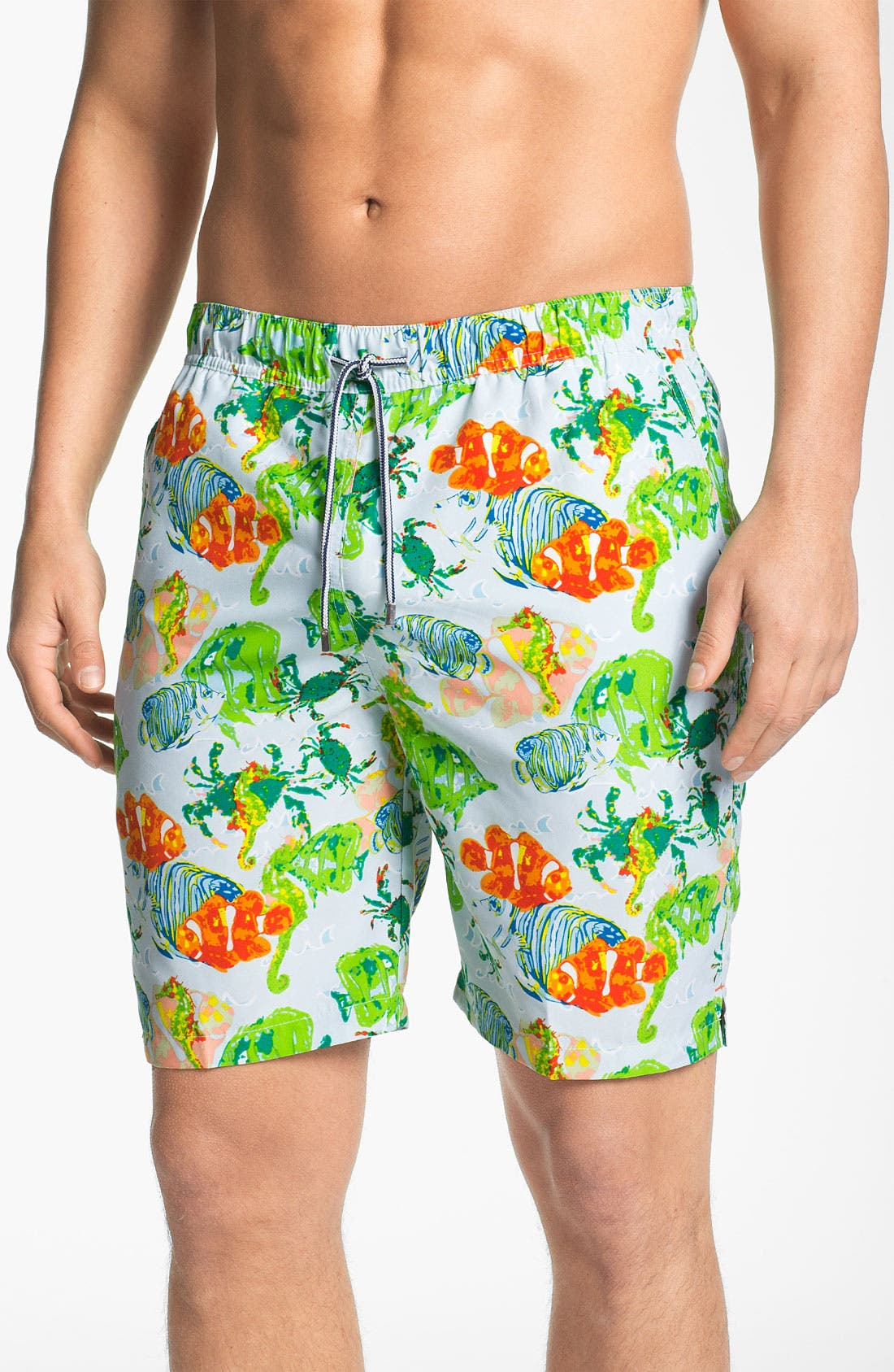 Main Image - Peter Millar 'Reef Life' Swim Trunks
