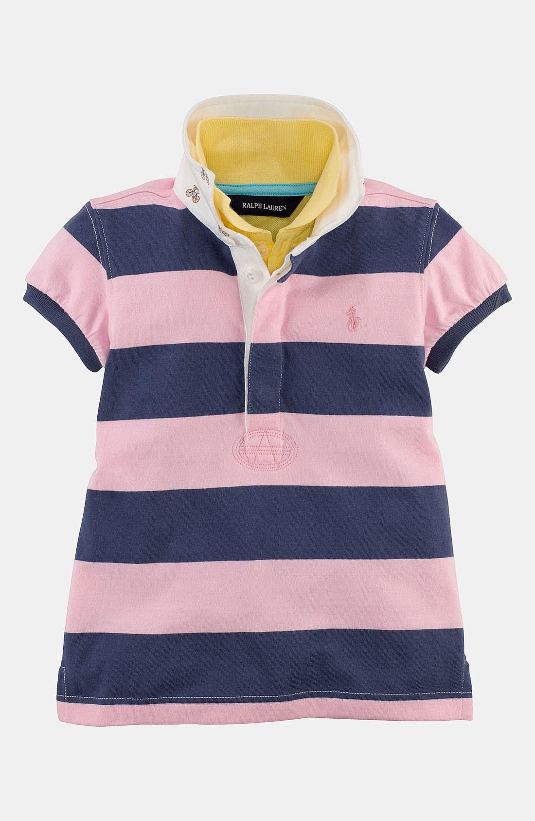 Alternate Image 1 Selected - Ralph Lauren Stripe Shirt (Toddler)
