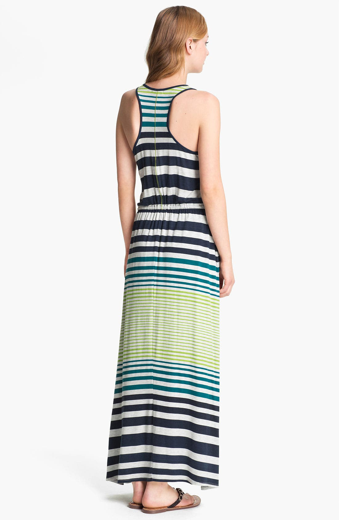 Alternate Image 1 Selected - Max & Mia Drawstring Waist Maxi Dress