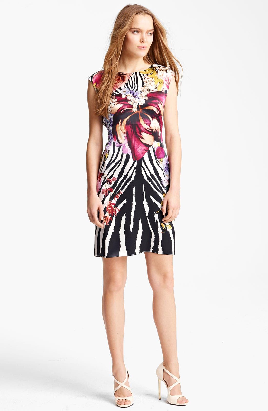 Main Image - Roberto Cavalli Floral & Animal Print Dress