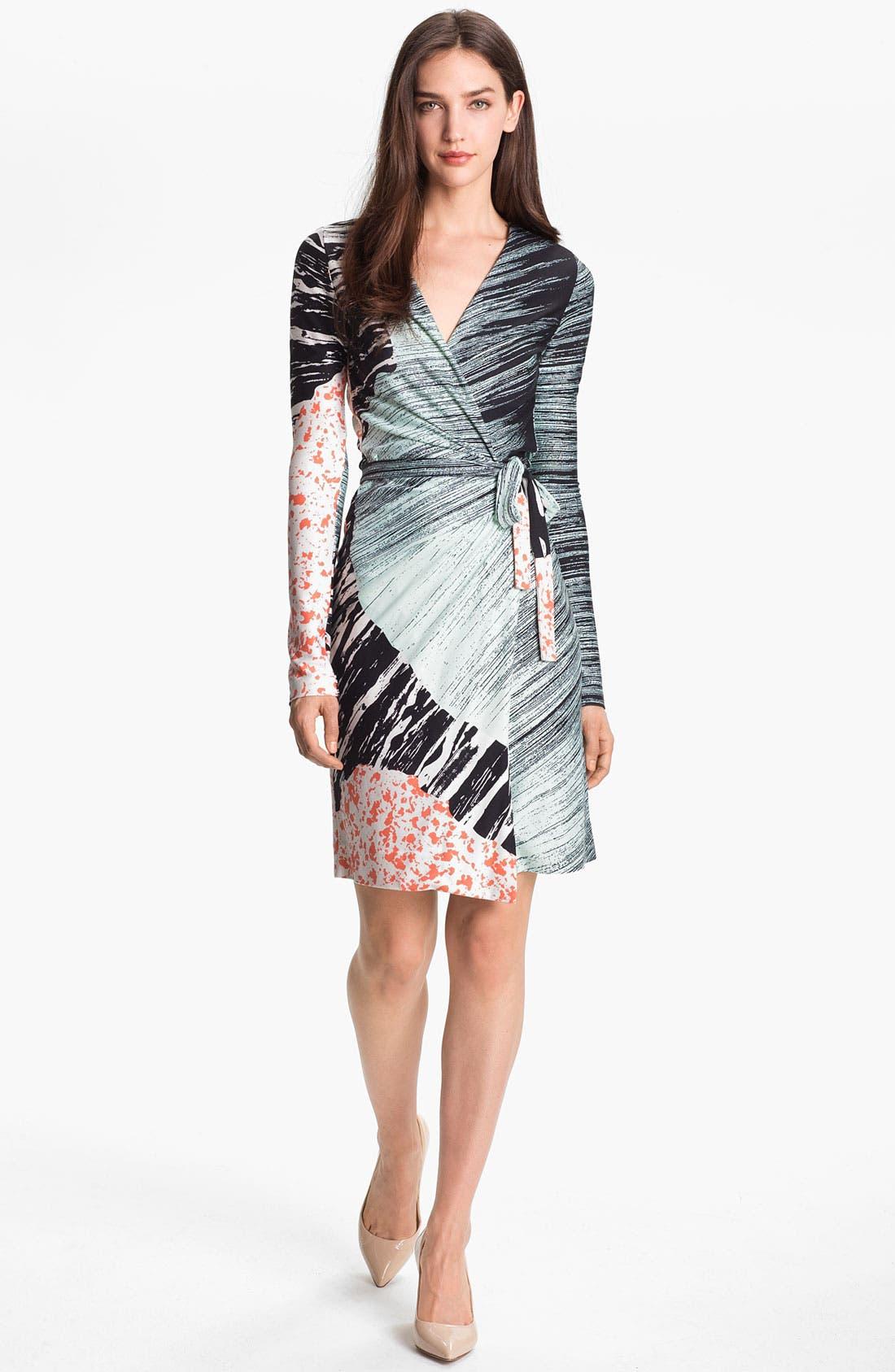 Alternate Image 1 Selected - Diane von Furstenberg 'Valencia' Silk Wrap Dress