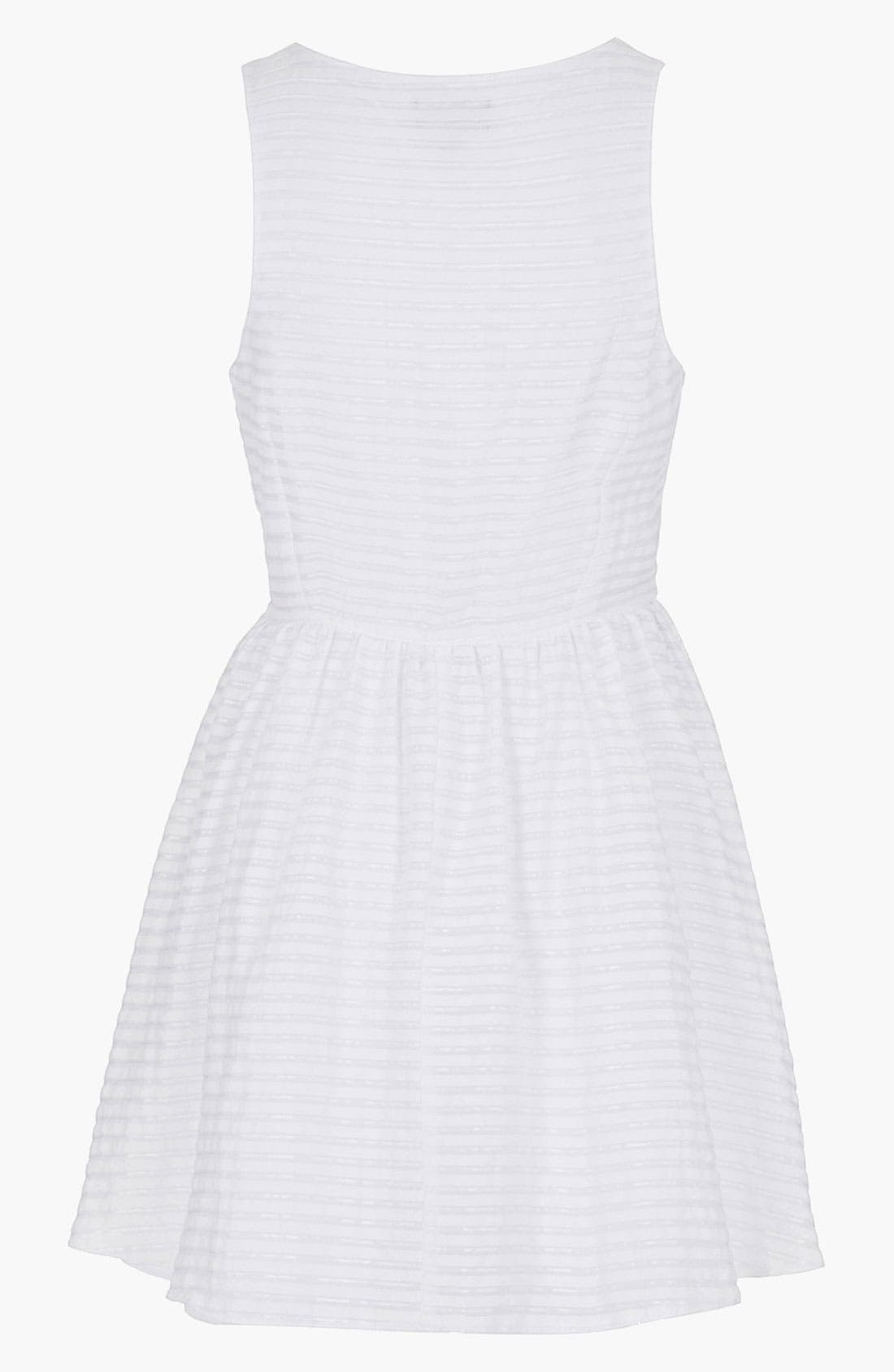 Alternate Image 2  - Topshop Stripe Tie Front Sundress