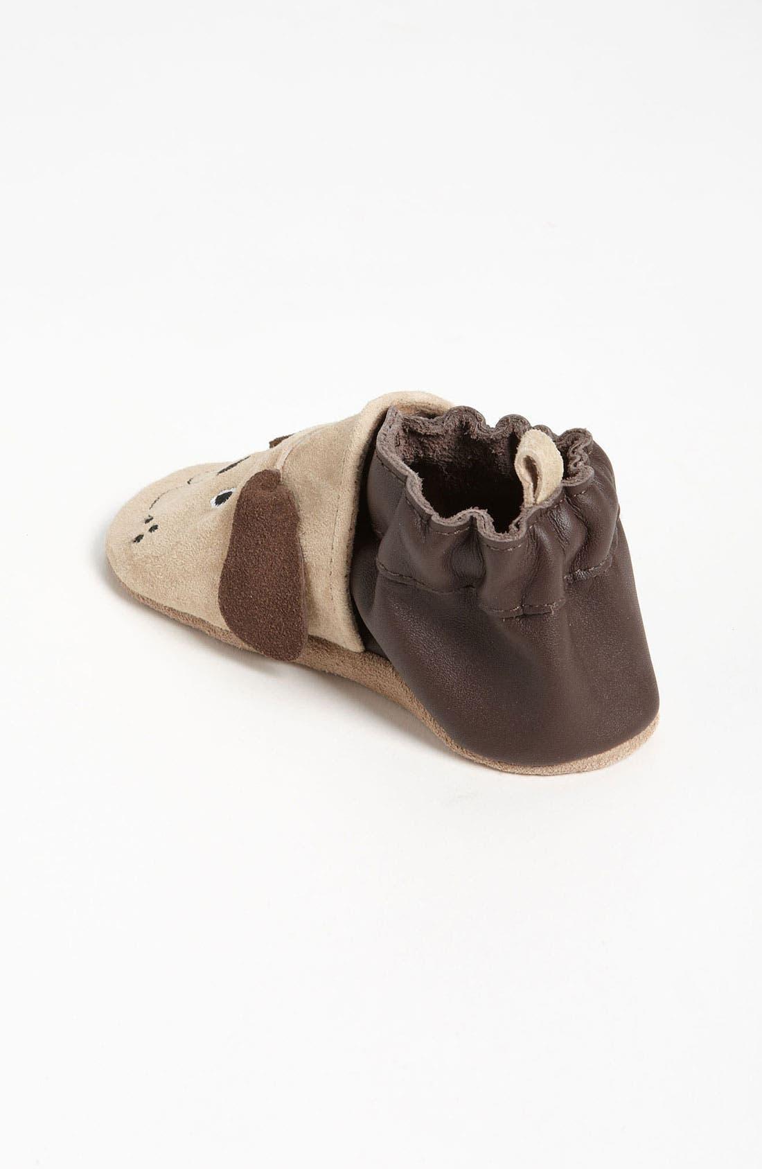 Alternate Image 2  - Robeez® '3D Dog' Crib Shoe (Baby & Walker)