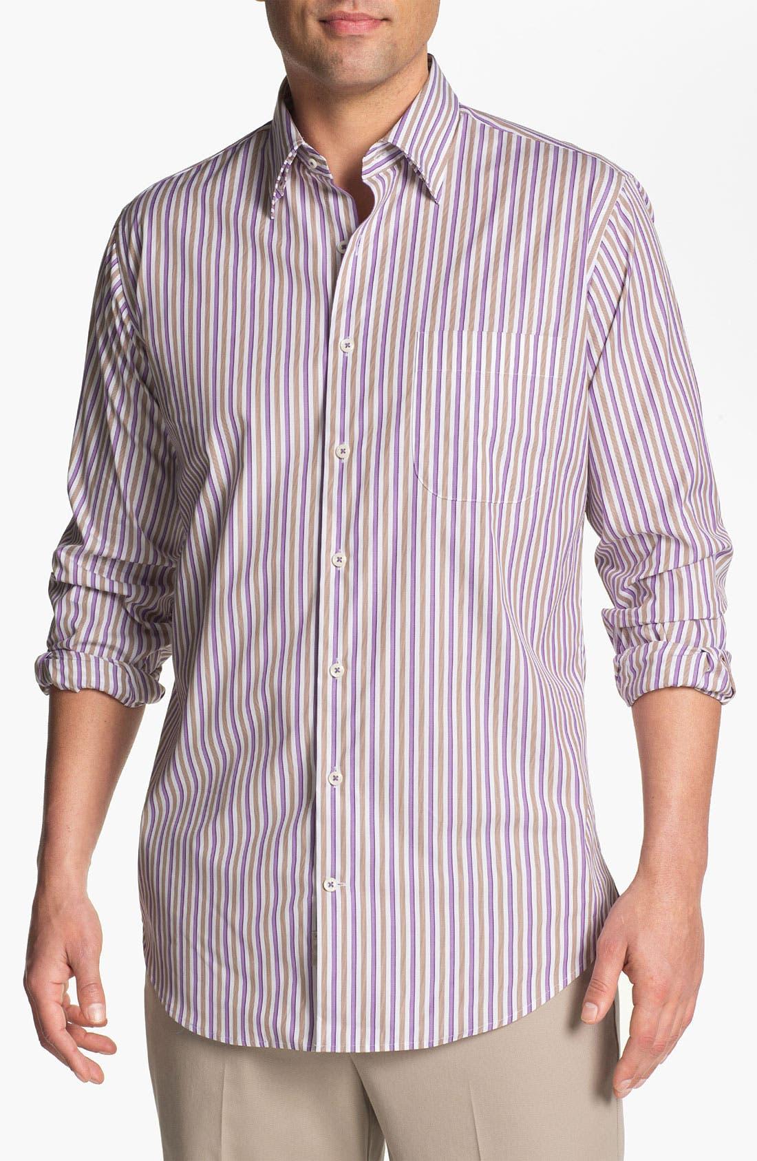 Alternate Image 1 Selected - Peter Millar 'Munich' Regular Fit Stripe Sport Shirt