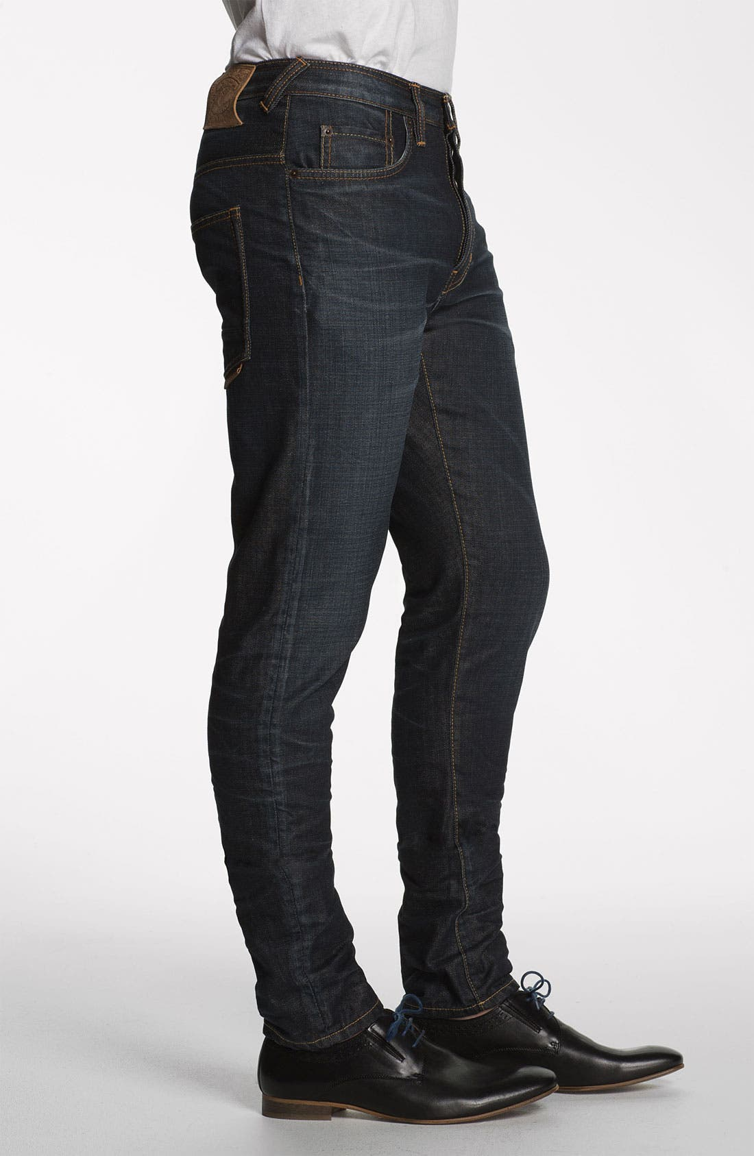 Alternate Image 3  - Natural Selection Denim 'Bruised' Slim Carrot Fit Jeans (Blue Rain)