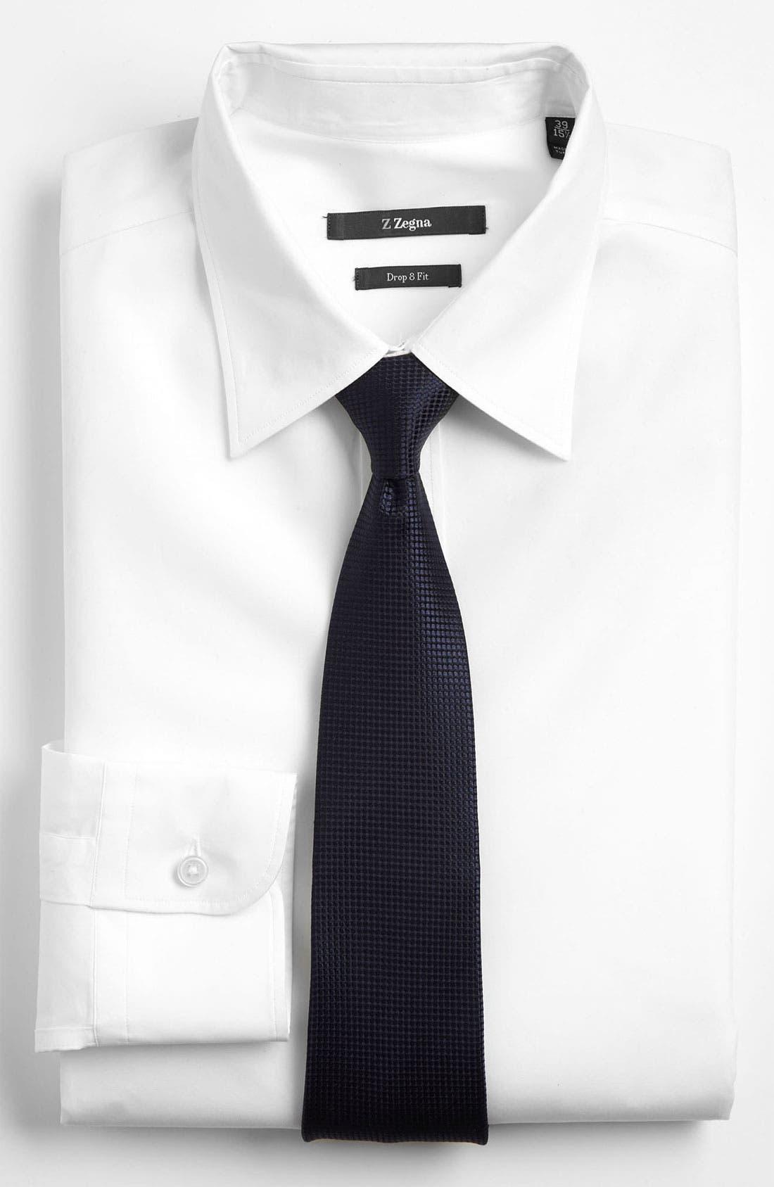 Alternate Image 2  - Z Zegna Dot Woven Silk Tie