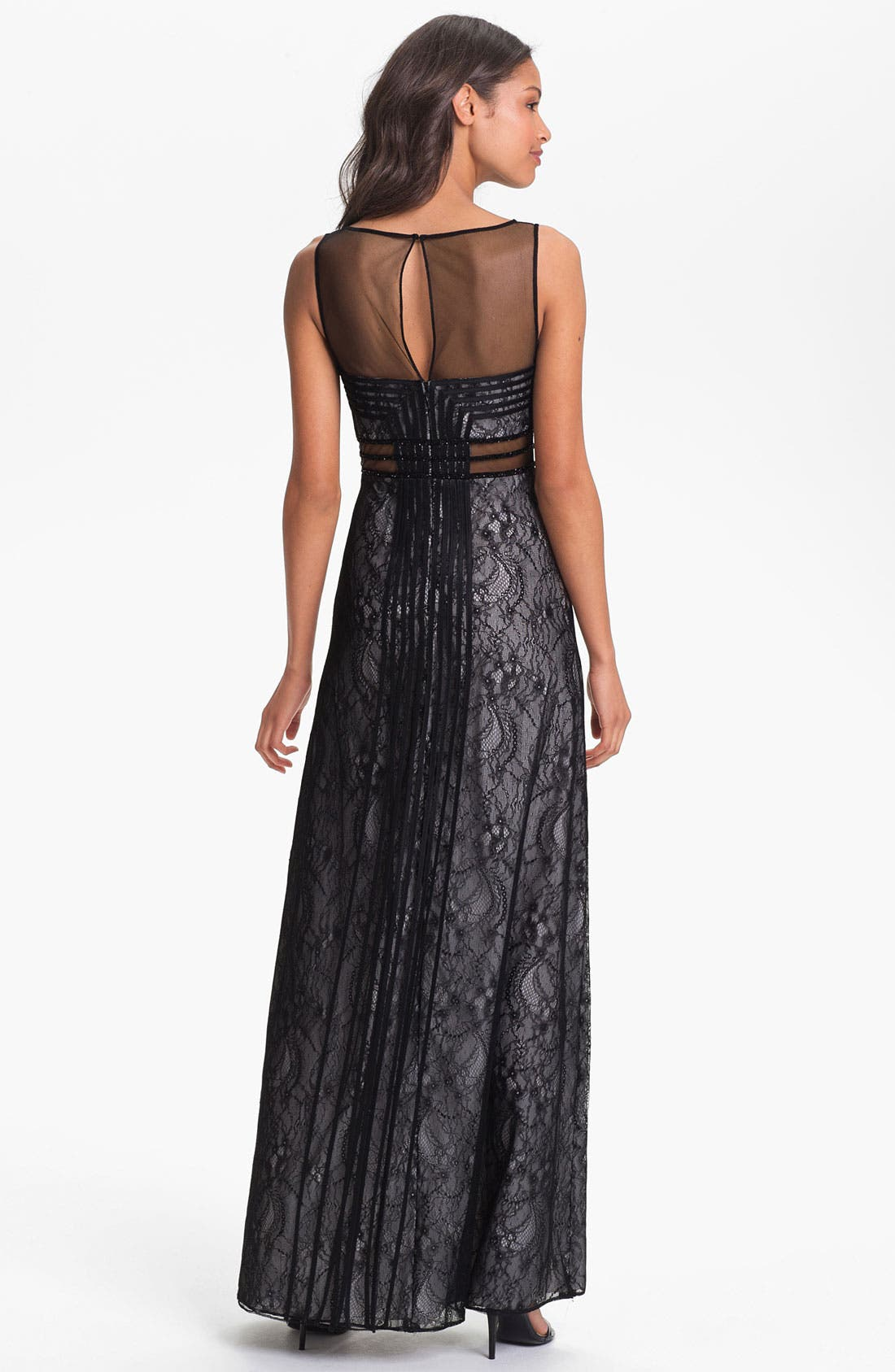 Alternate Image 2  - Aidan Mattox Embellished Lace Column Dress