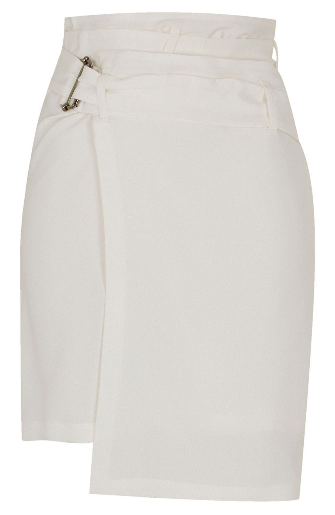 Alternate Image 1 Selected - Topshop Unique Silk Asymmetrical Wrap Skirt