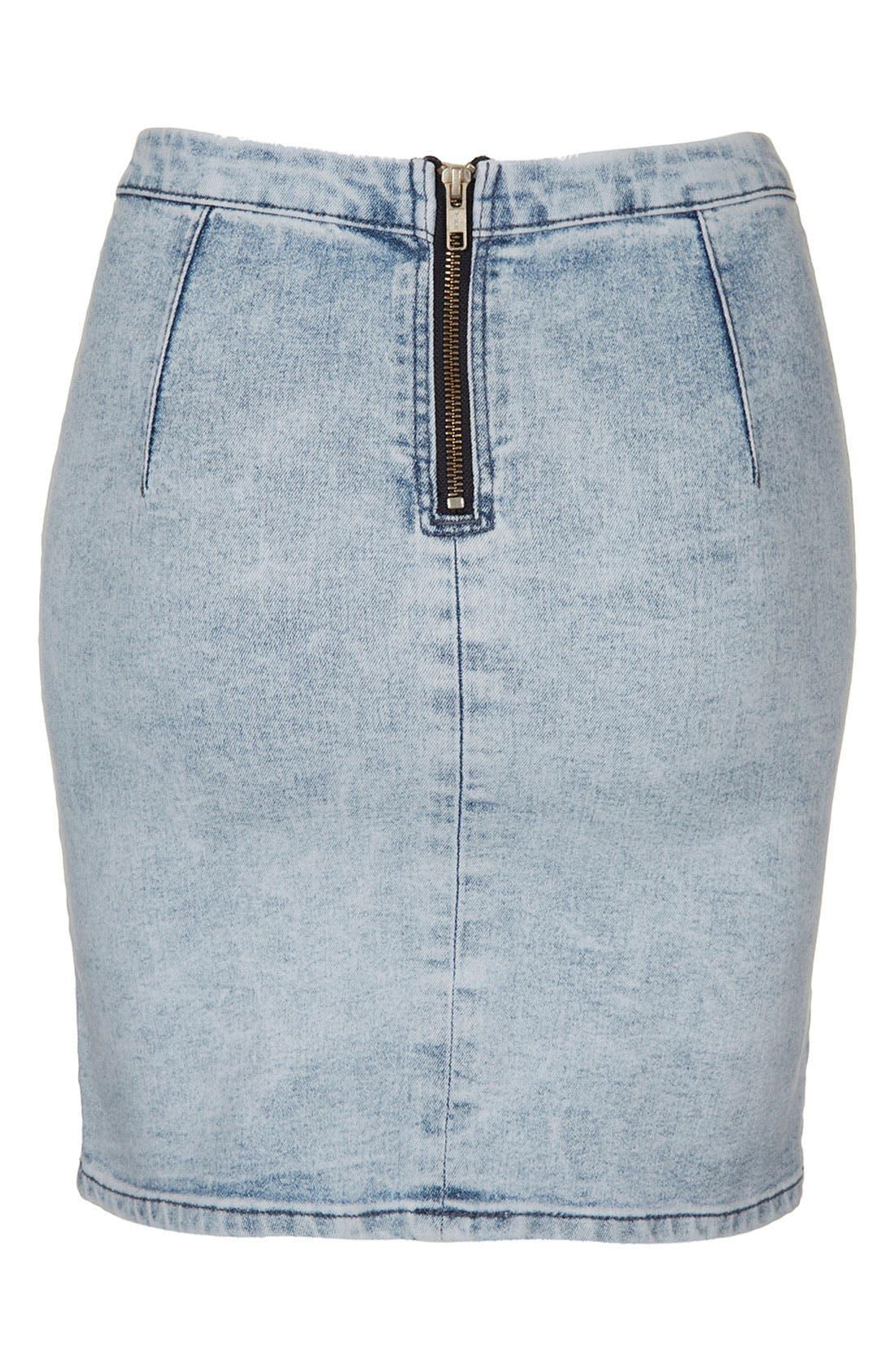 Alternate Image 2  - Topshop Moto 'Joni' Denim Skirt