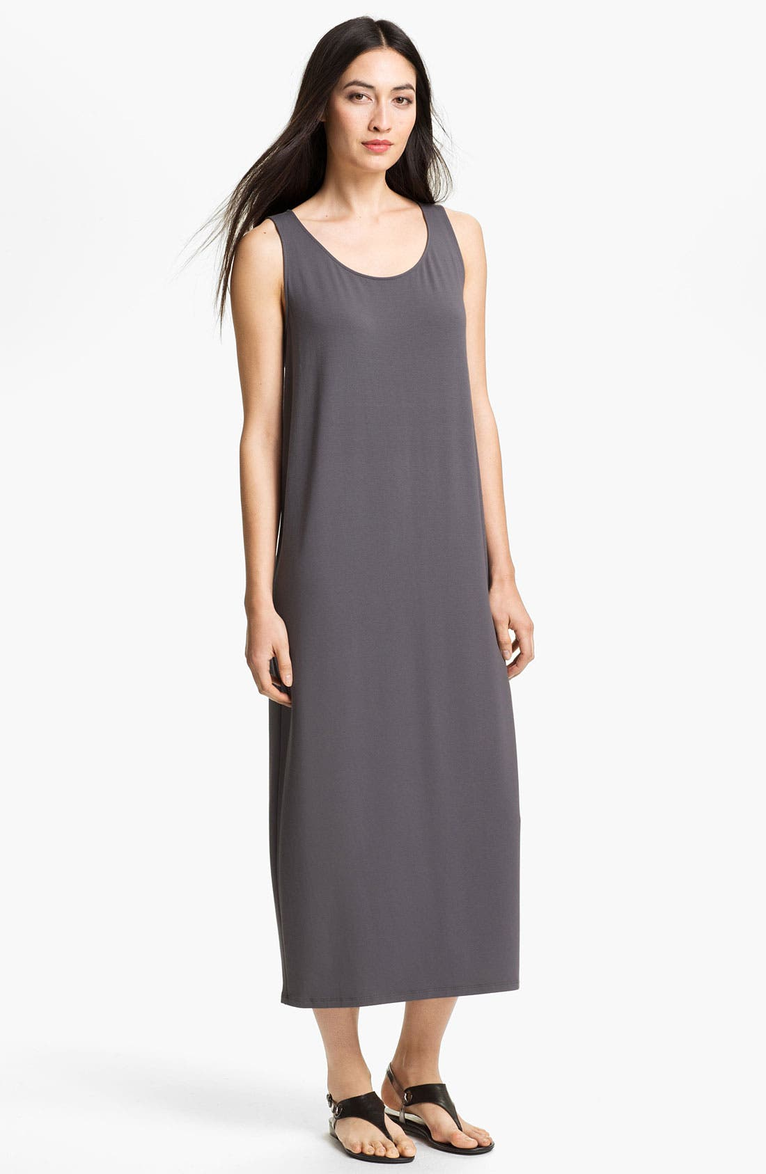 Alternate Image 1 Selected - Eileen Fisher Scoop Neck Sleeveless Dress