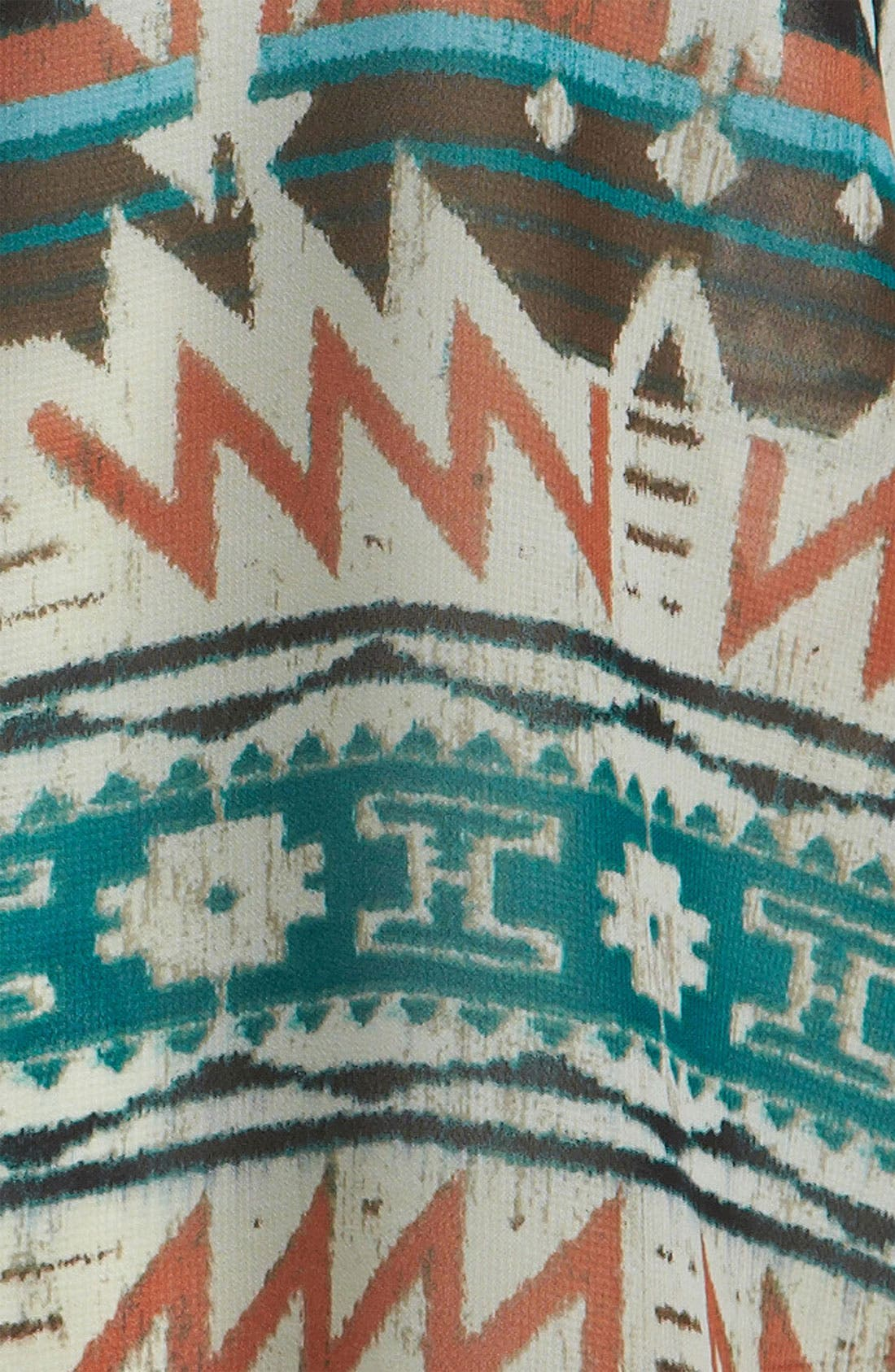 Alternate Image 3  - Like Mynded Aztec Print Sleeveless Shirt