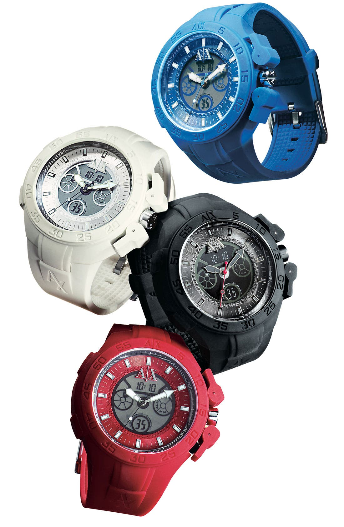 Alternate Image 4  - AX Armani Exchange Dual Movement Watch, 47mm