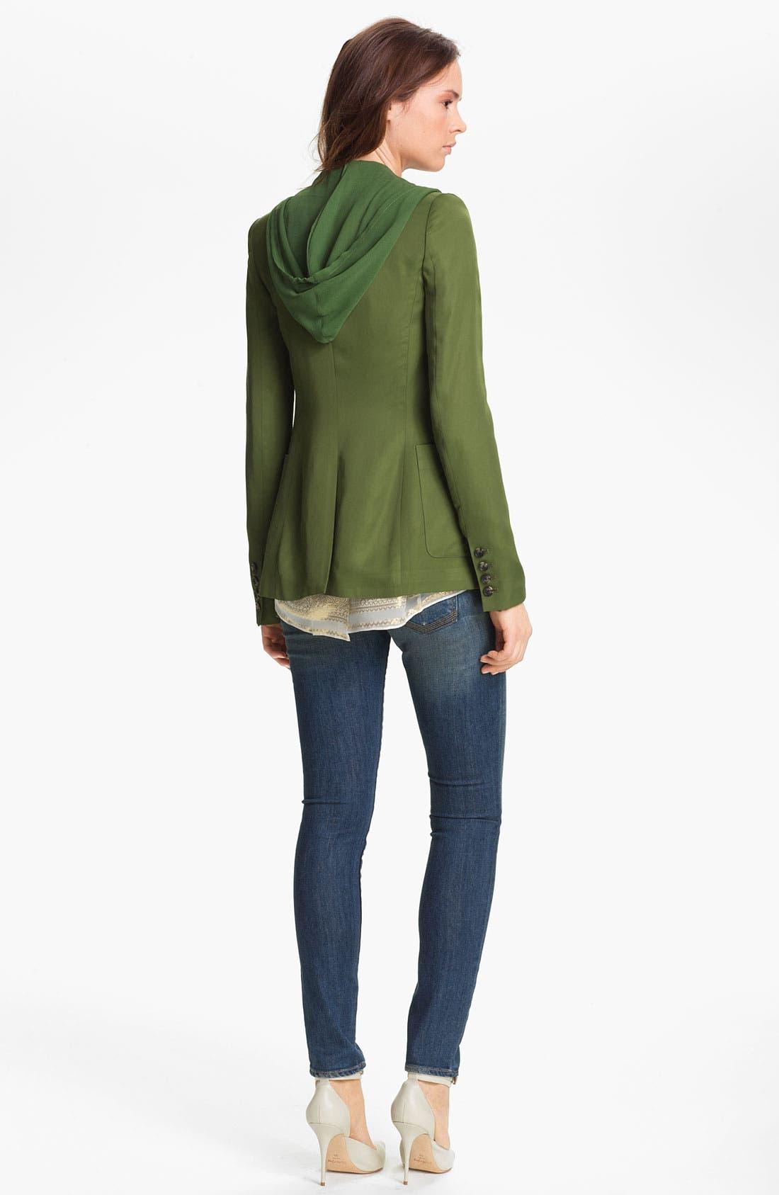 Alternate Image 5  - Elizabeth and James 'Mona' Hooded Crepe Vest & Satin Jacket