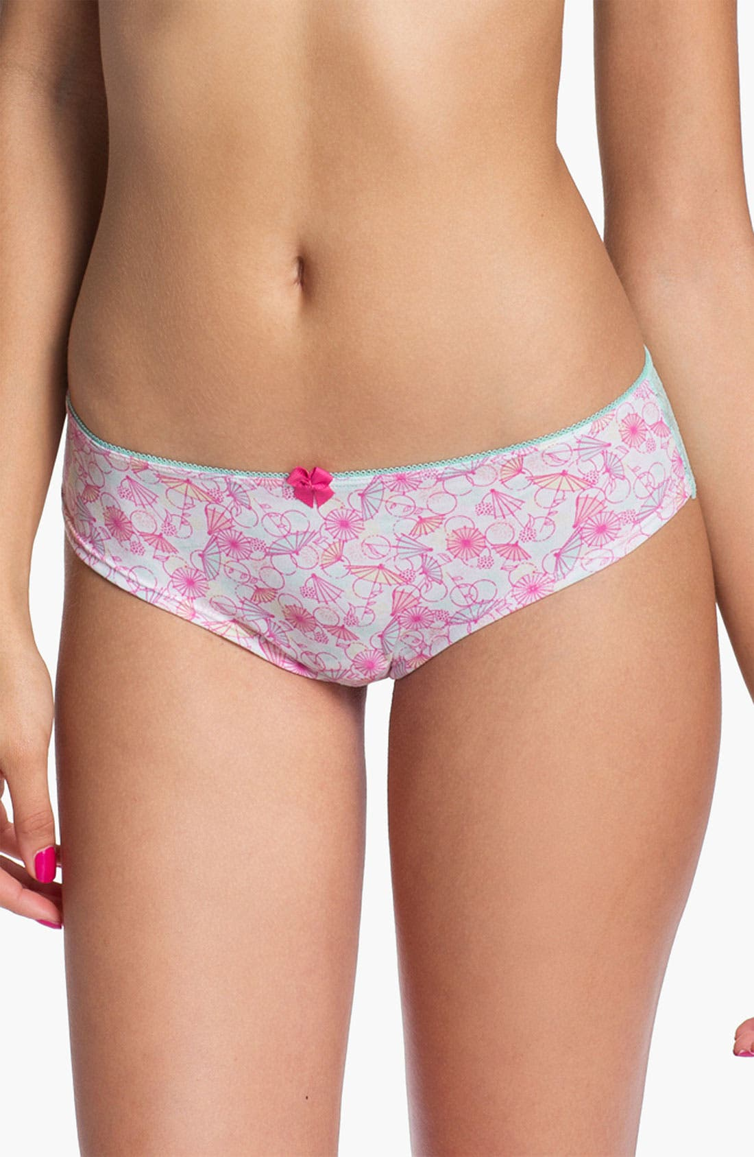 Main Image - BP. Undercover Lace Back Cheeky Bikini