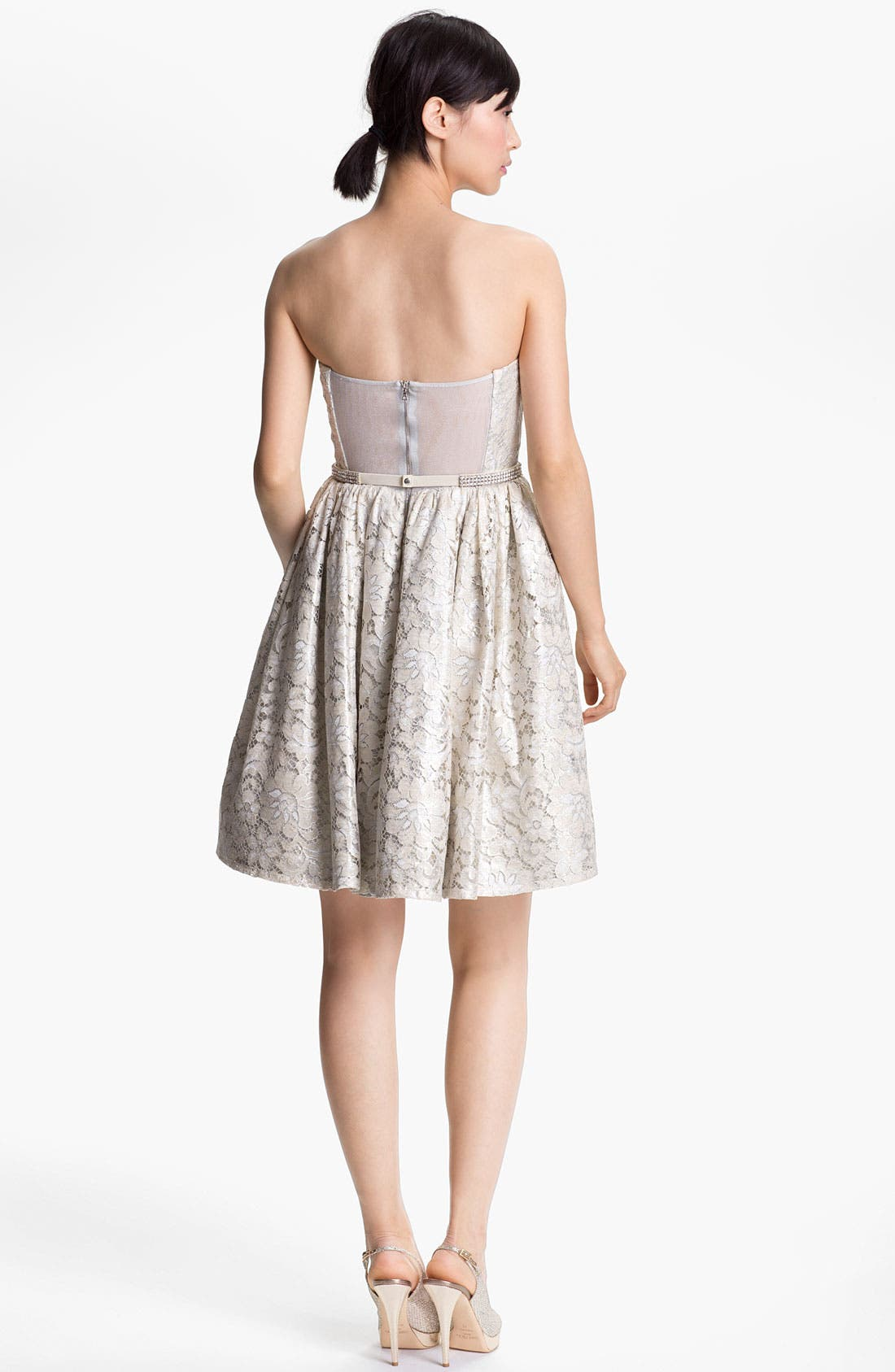 Alternate Image 2  - Alice + Olivia 'Nellie' Short Strapless Gown