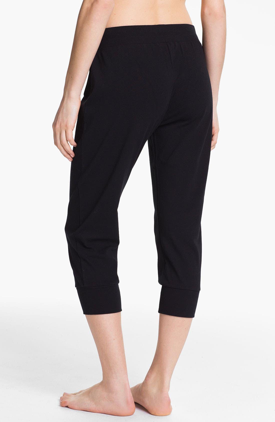 Alternate Image 2  - Donna Karan 'Casual Luxe' Crop Lounge Pants