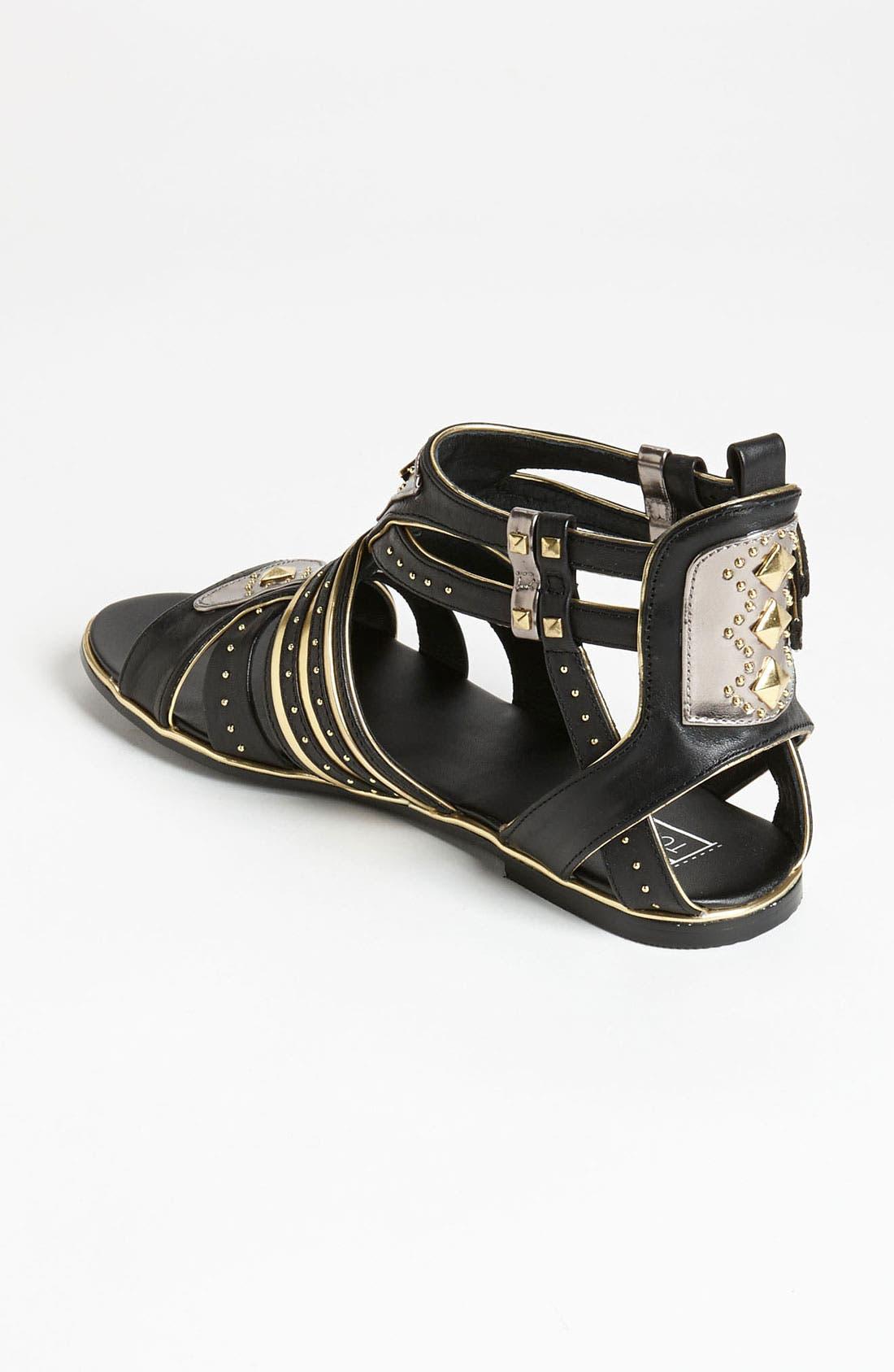 Alternate Image 2  - Topshop 'Francine' Metal Gladiator Sandal