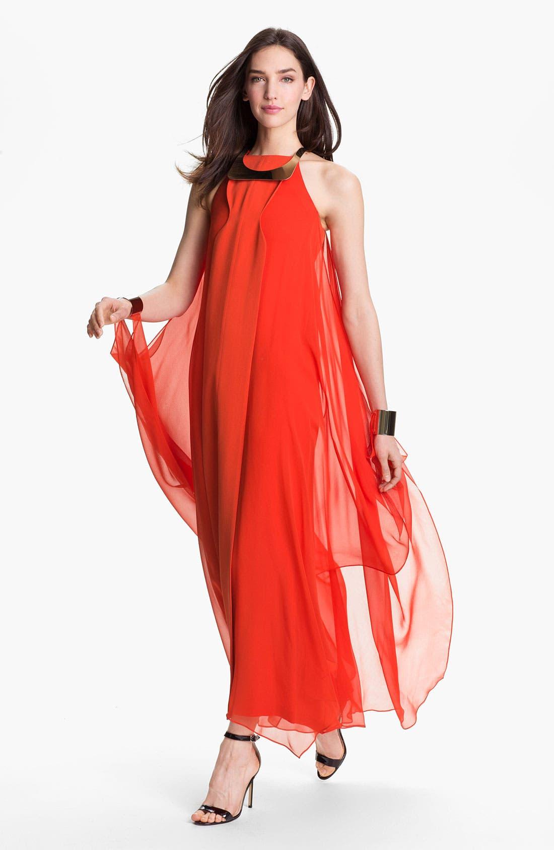 Main Image - Diane von Furstenberg 'Yakira' Silk Halter Dress